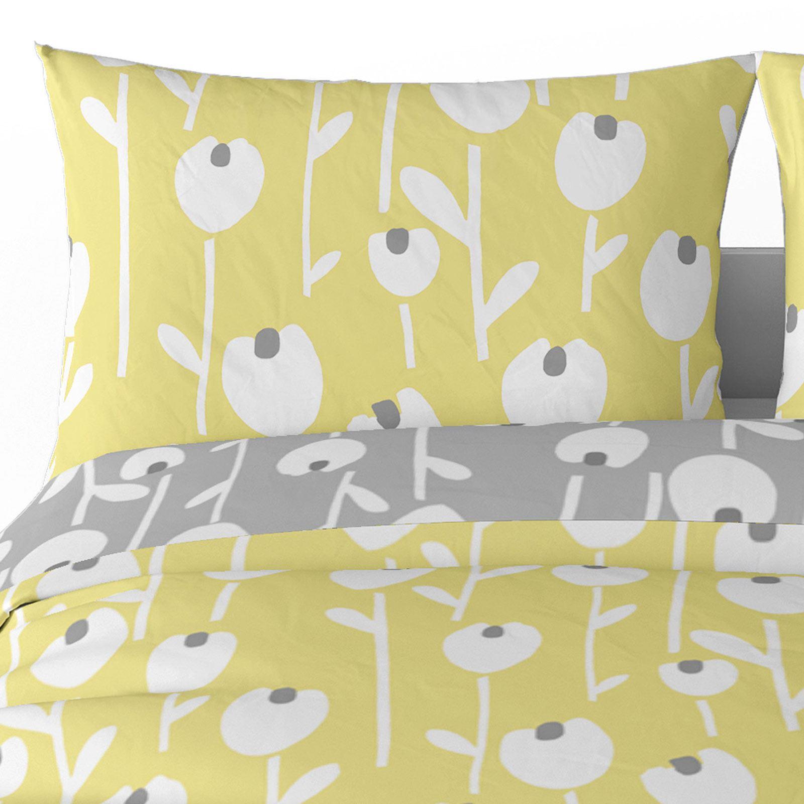 Mostaza-amarillo-ocre-Funda-de-edredon-impreso-Edredon-juego-ropa-de-cama-cubre-conjuntos miniatura 4