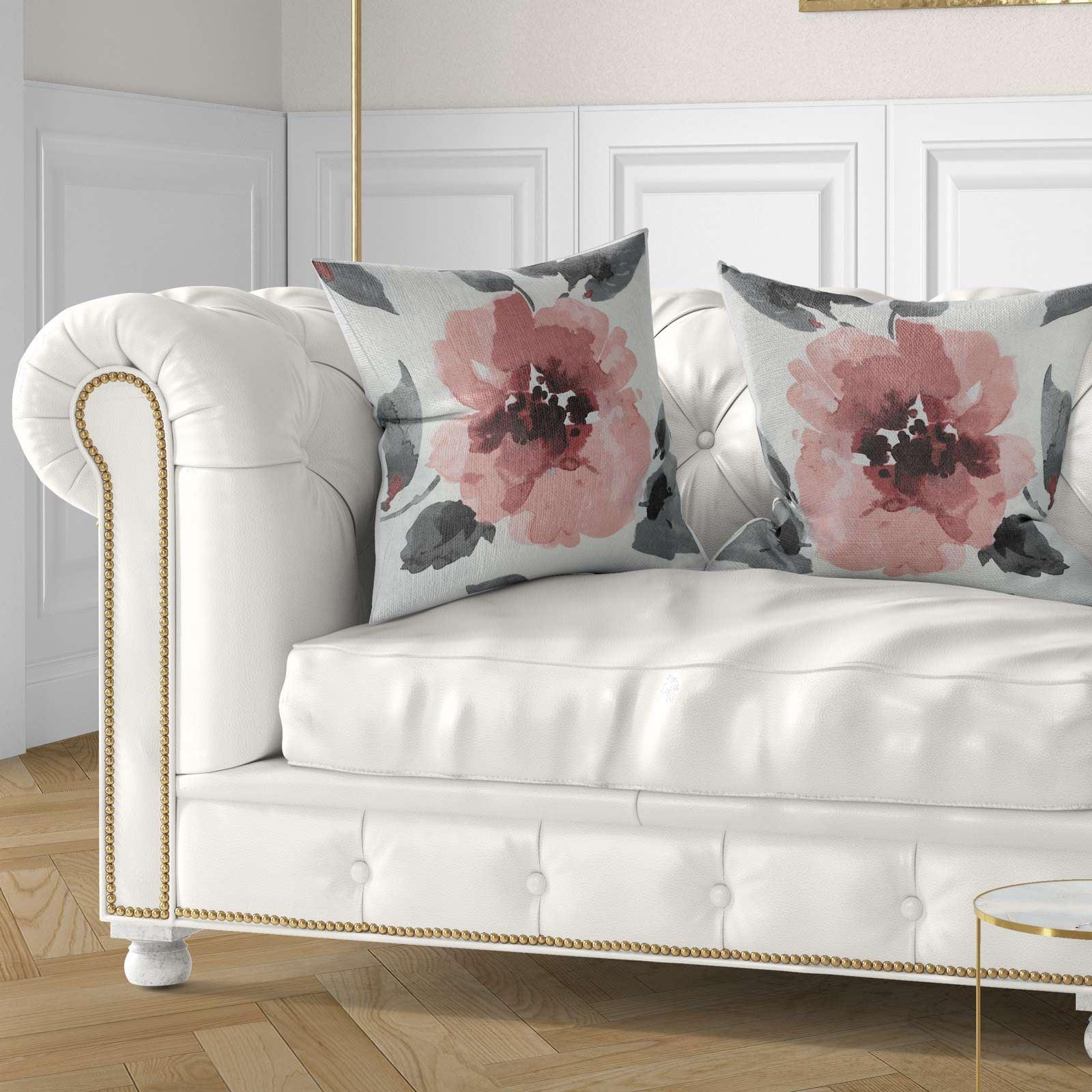 Conjunto-de-4-cubiertas-de-acuarela-floral-Adrianna-Cojin-Cubierta-para-Cojin-Colecciones