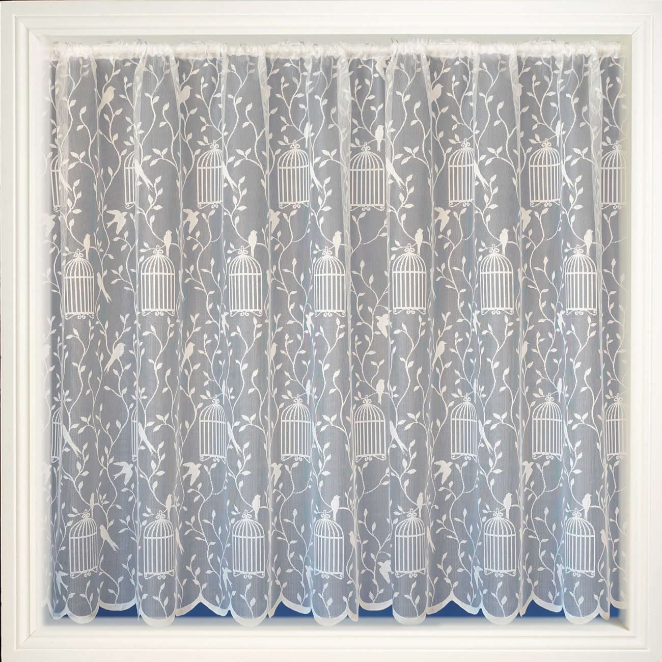 White Net Curtain Floral Sheer Curtains Choose