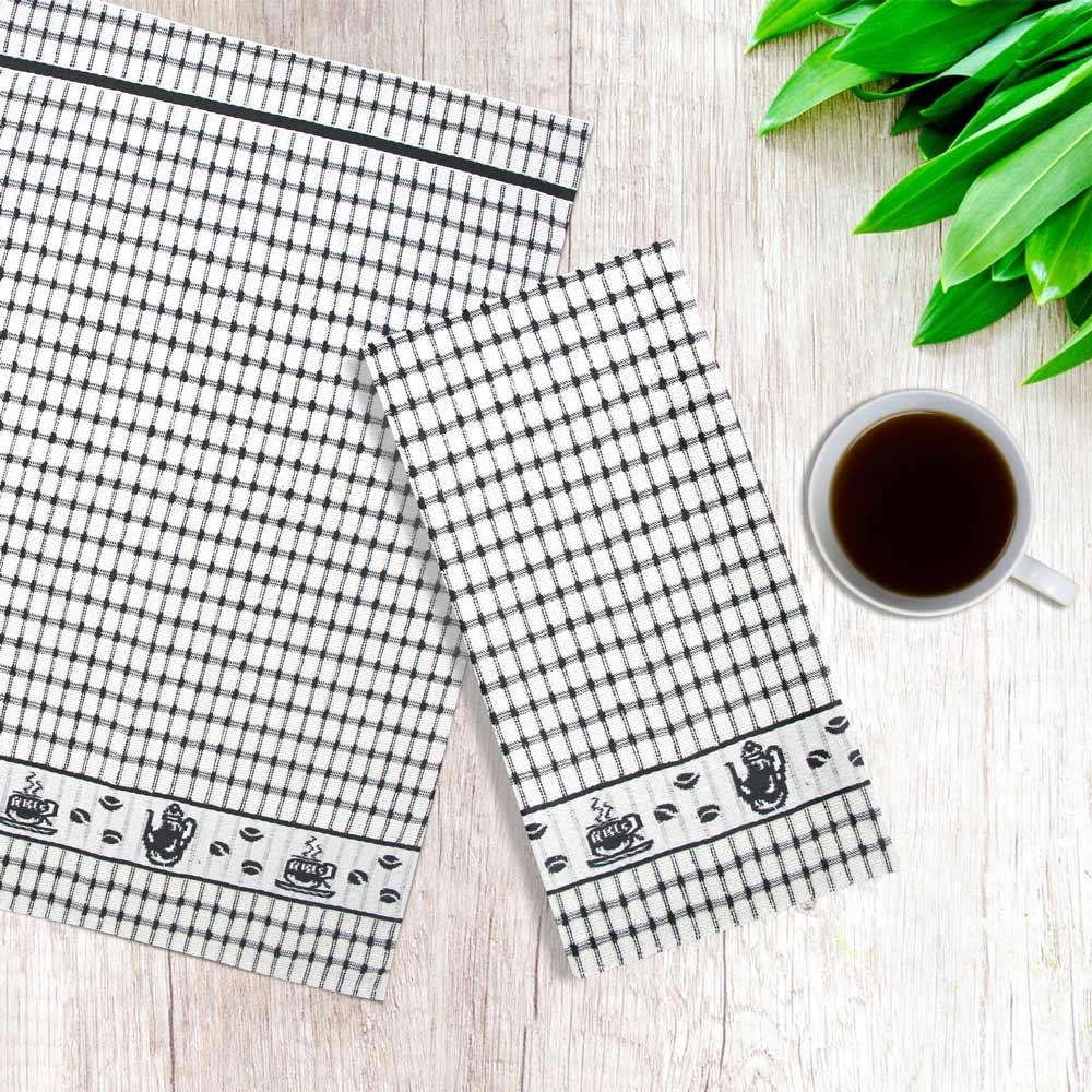 Packs-of-2-4-6-12-Tea-Towels-100-Cotton-Terry-Kitchen-Dish-Drying-Towel-Sets thumbnail 31