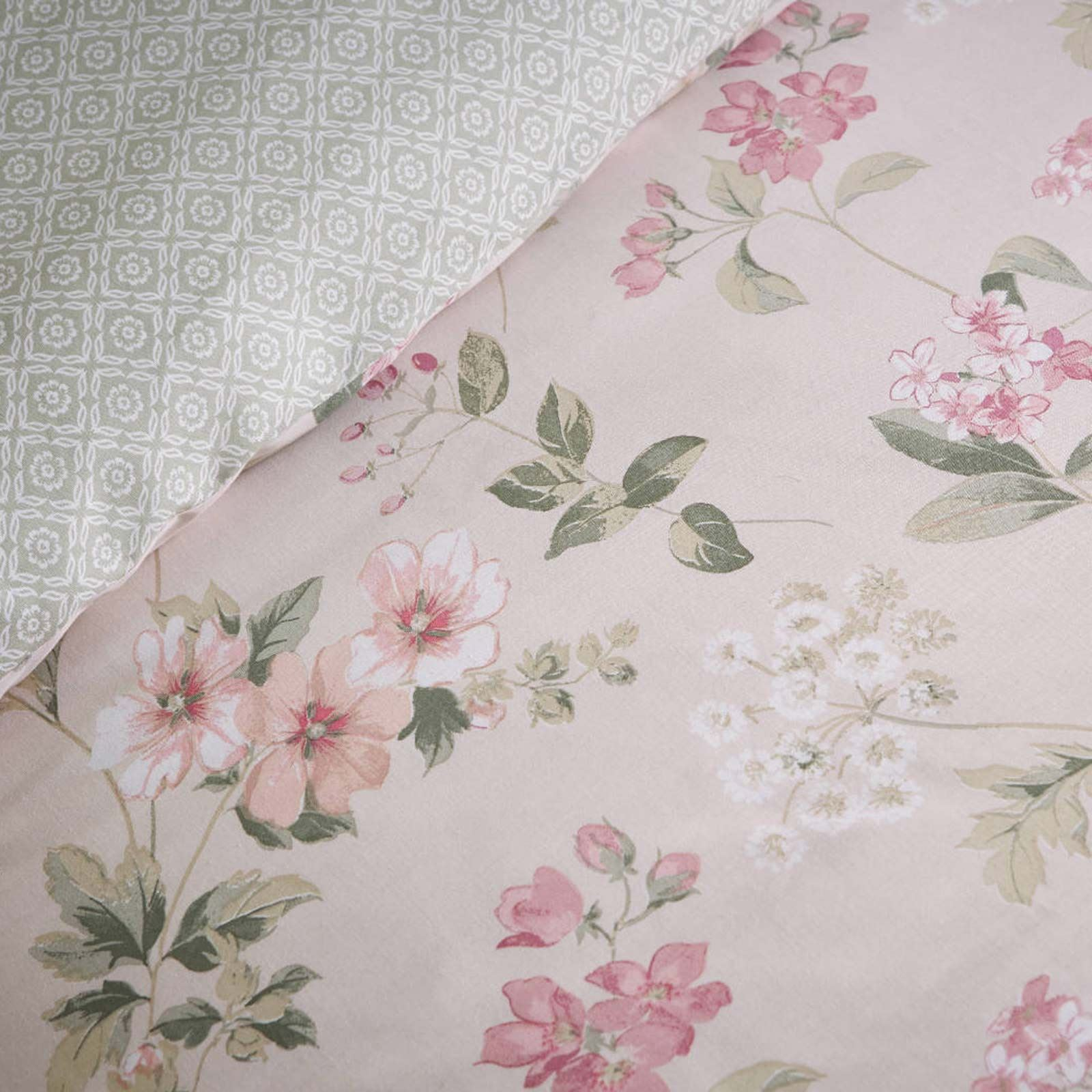Floral Duvet Covers Lorena Vintage Flower Print Cotton ...