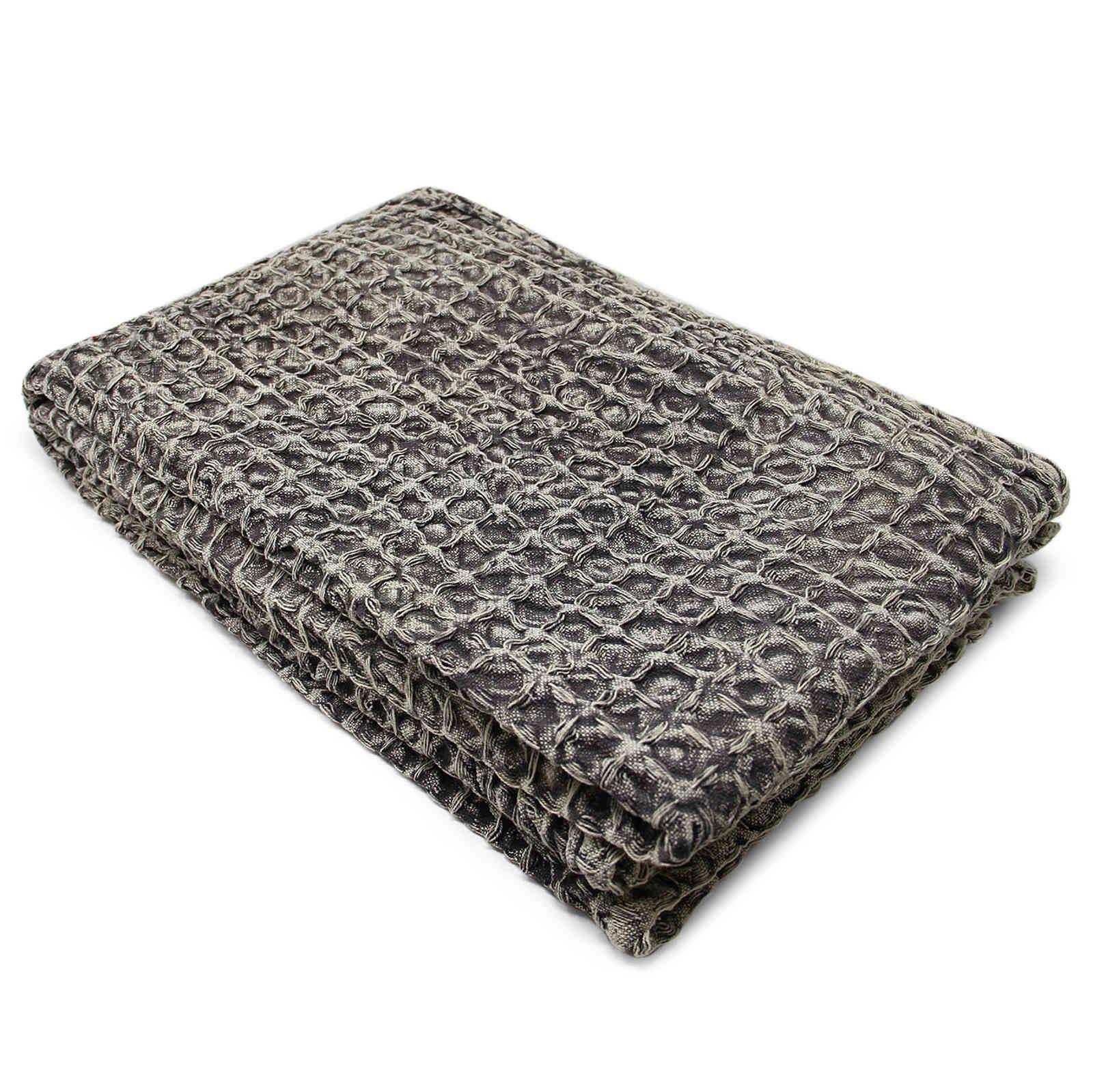 Oregon-Stonewash-Waffle-Throw-Modern-Distressed-Sofa-Bed-Blankets-100-Cotton thumbnail 11