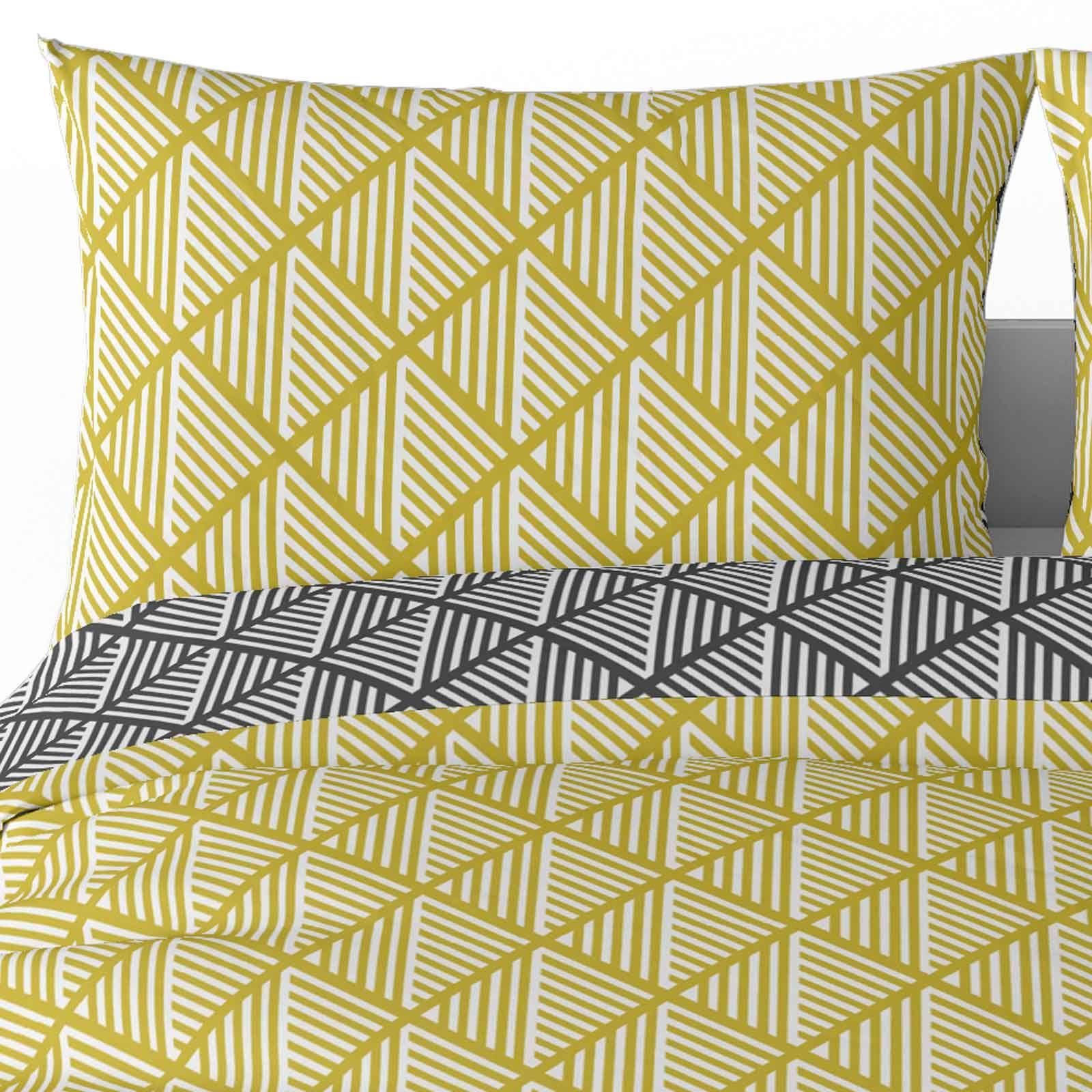 Mostaza-amarillo-ocre-Funda-de-edredon-impreso-Edredon-juego-ropa-de-cama-cubre-conjuntos miniatura 27
