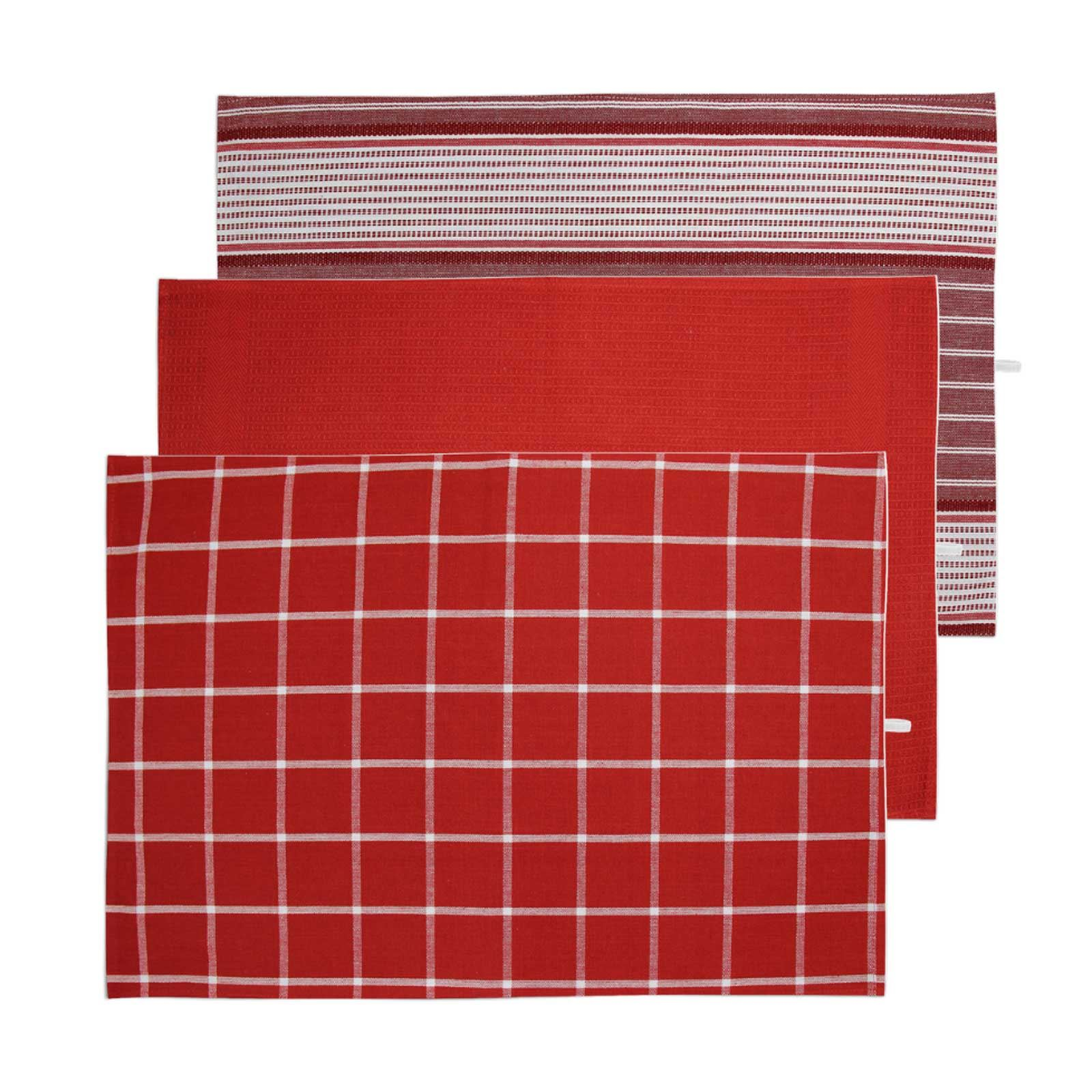 Pack-of-3-Tea-Towels-100-Cotton-Kitchen-Dish-Towel-Drying-Set thumbnail 39