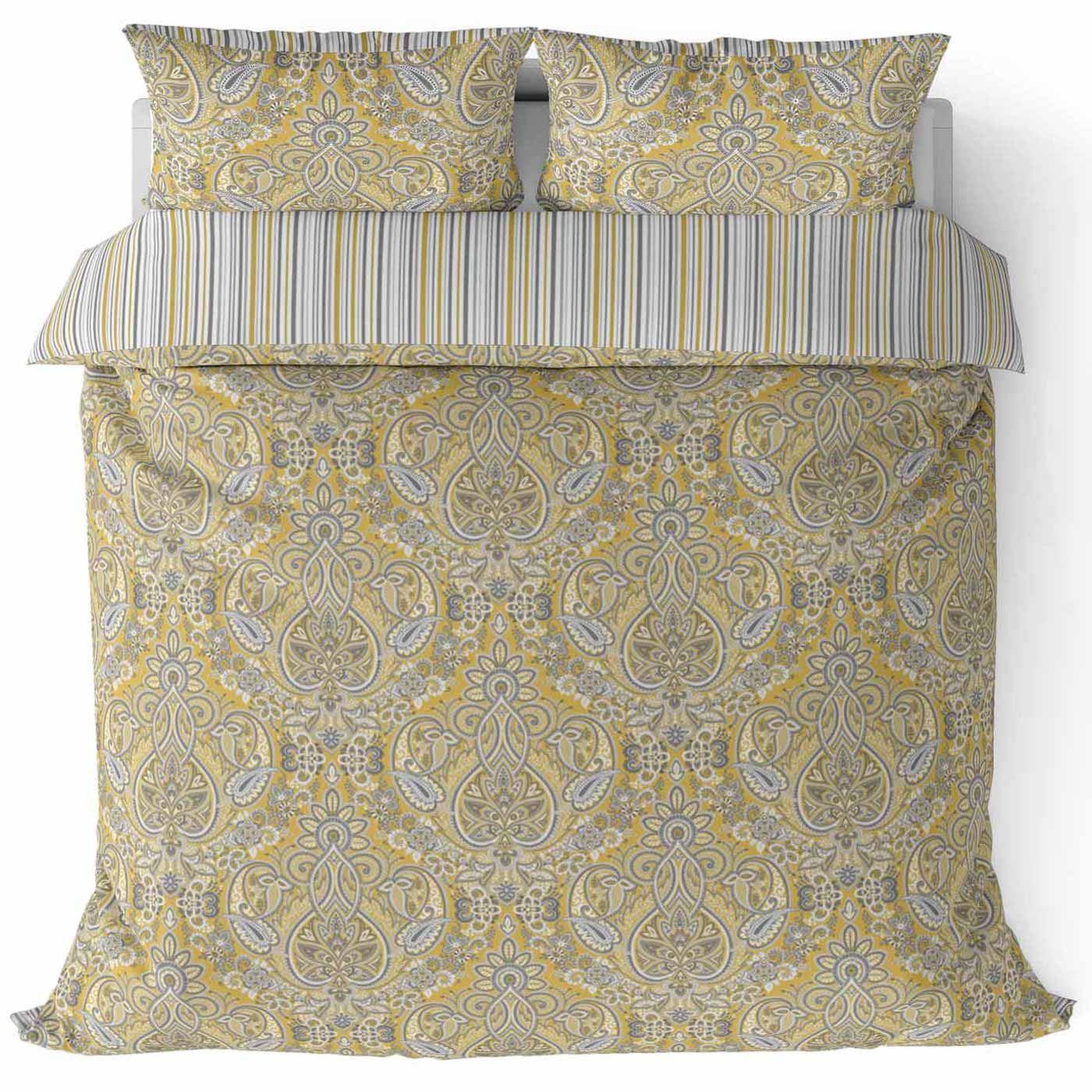 Mostaza-amarillo-ocre-Funda-de-edredon-impreso-Edredon-juego-ropa-de-cama-cubre-conjuntos miniatura 43