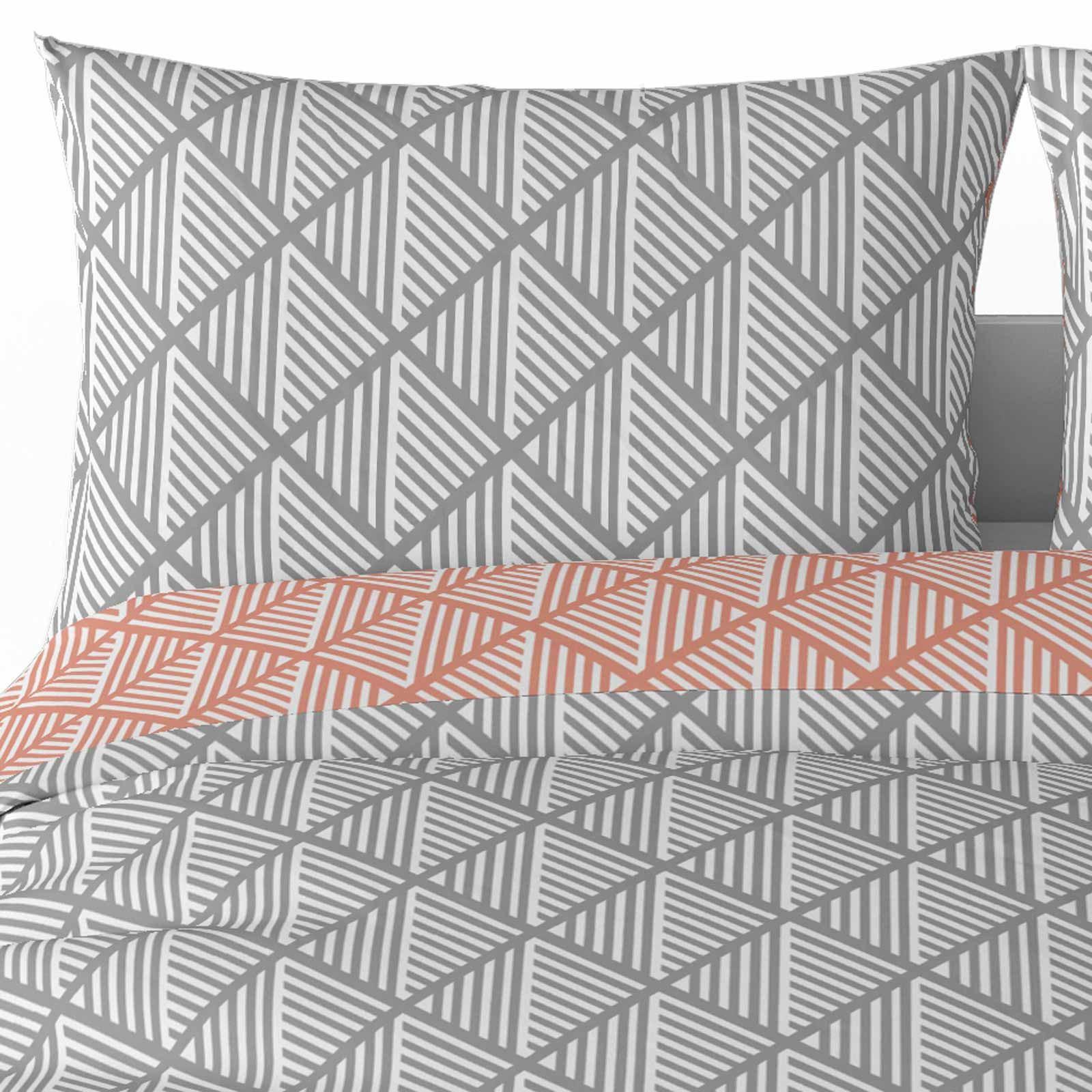 Grigio-Argento-Copripiumino-Stampato-Jacquard-Quilt-Set-Set-di-biancheria-da-letto-copre miniatura 25