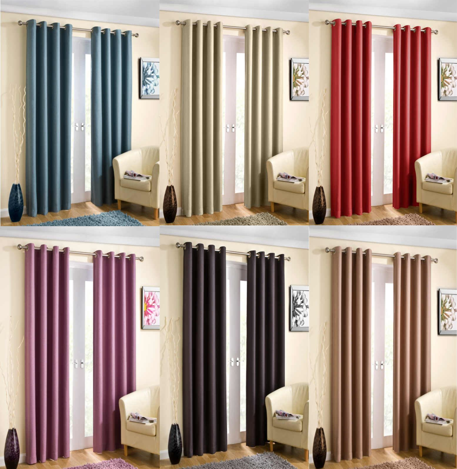 Wetherby Thermal Block Out Lined Eyelet Curtains Ready