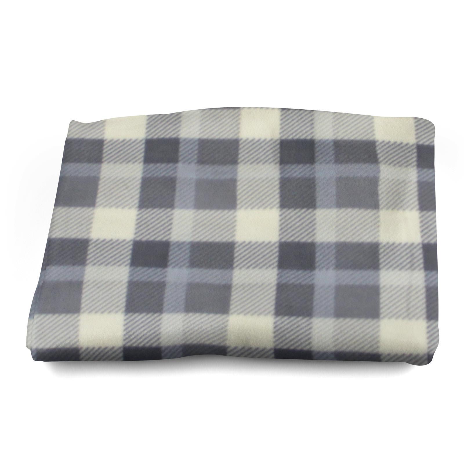 Sofa-de-verificacion-de-tartan-polar-mantas-polar-silla-acogedor-lanza-Manta-127cm-X-152cm miniatura 10