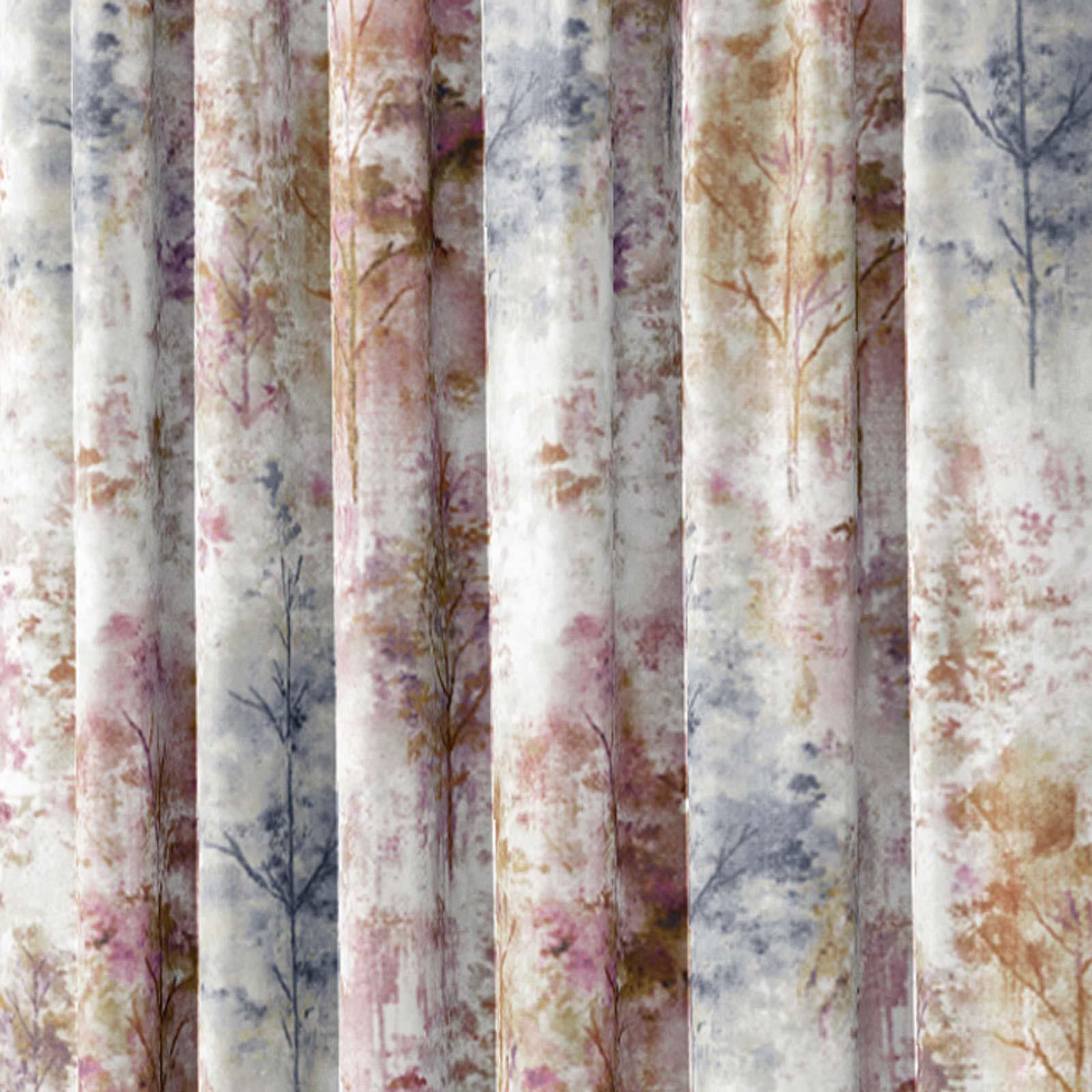 Woodland-Cinta-superior-Cortinas-de-arboles-de-impresion-Ready-Made-3-034-pares-de-cortina-plisado miniatura 5