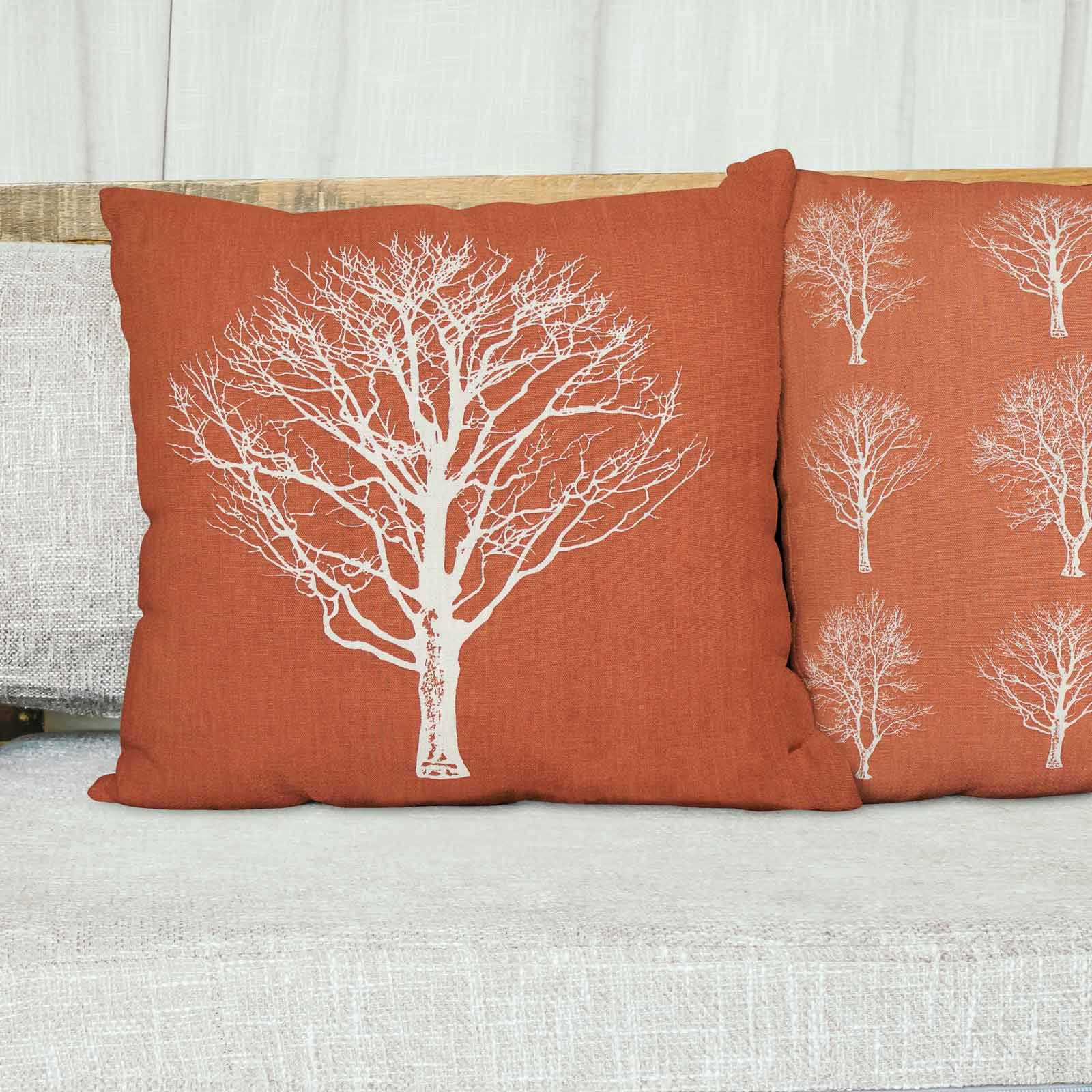 Woodland-Trees-Cushion-Cover-Modern-Reversible-Tree-Print-Covers-17-034-x-17-034 thumbnail 15
