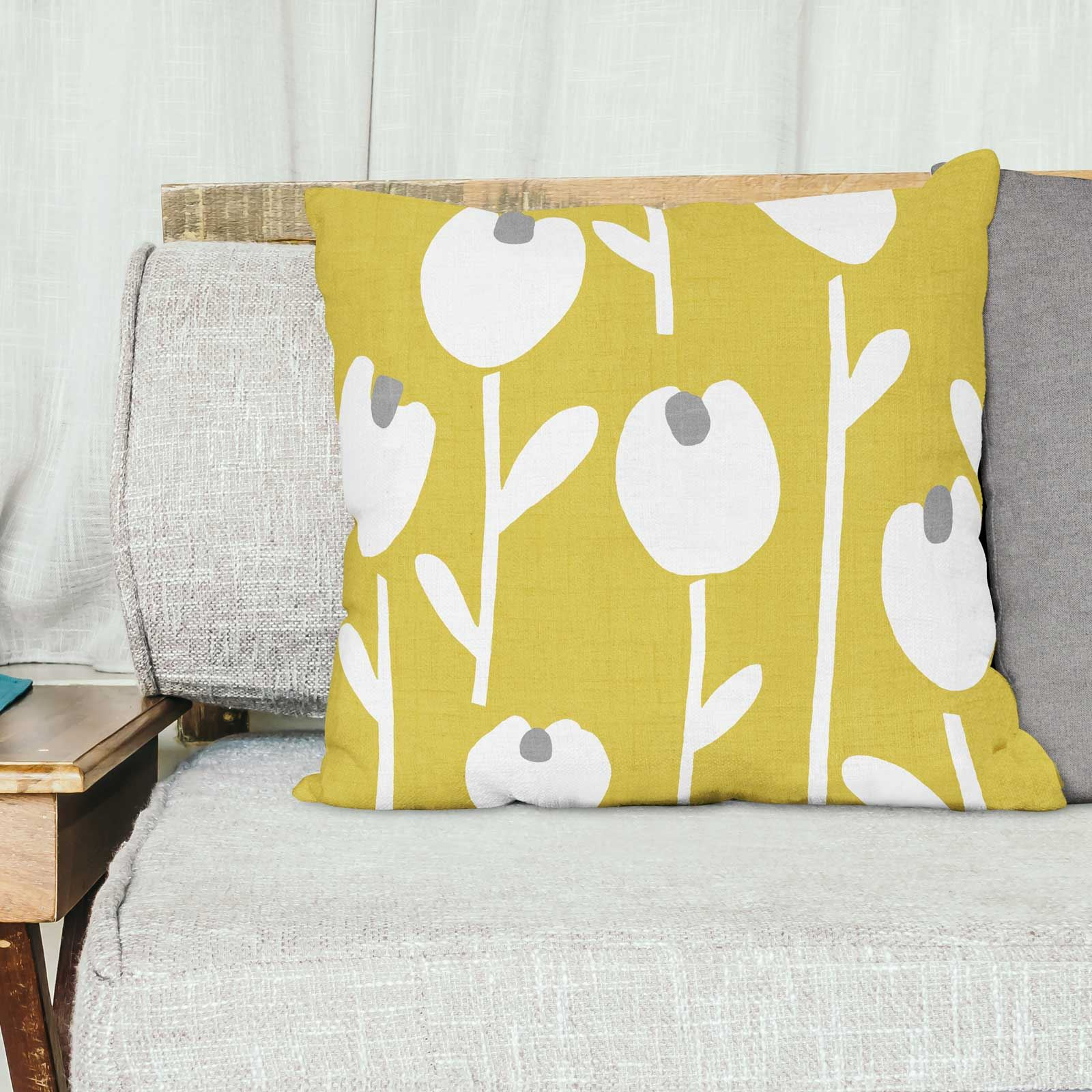 Grey-Ochre-Mustard-Cushion-Cover-Collection-17-034-18-034-Covers-Filled-Cushions thumbnail 13