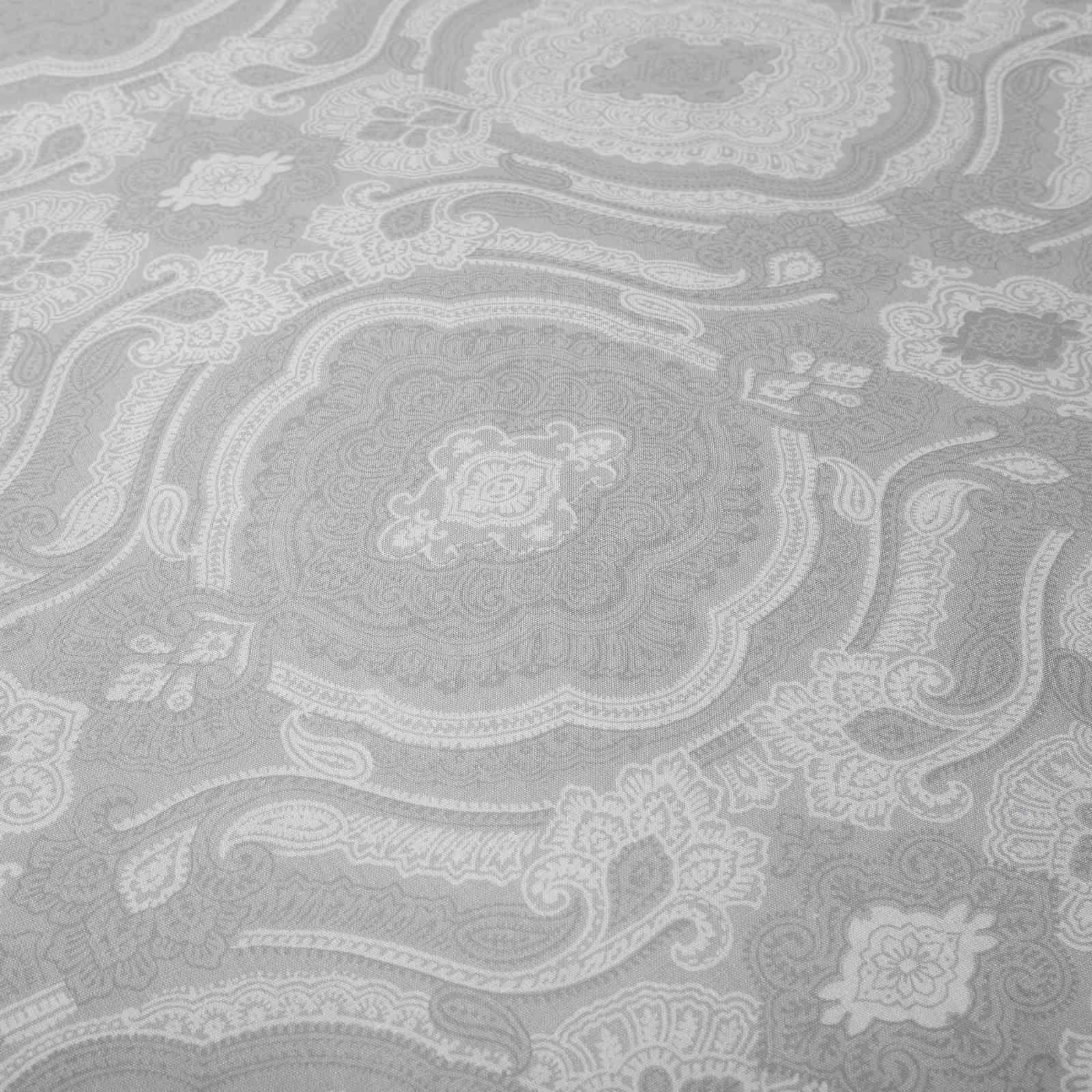 Grigio-Argento-Copripiumino-Stampato-Jacquard-Quilt-Set-Set-di-biancheria-da-letto-copre miniatura 3