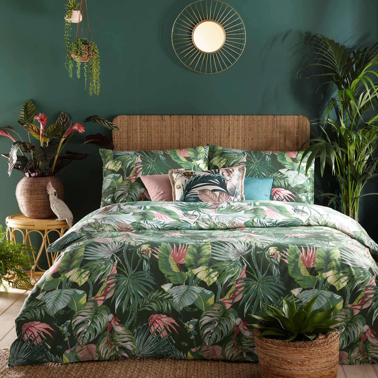 Möbel & Wohnen Tropical Jungle Palm Tree Single Double King Duvet ...
