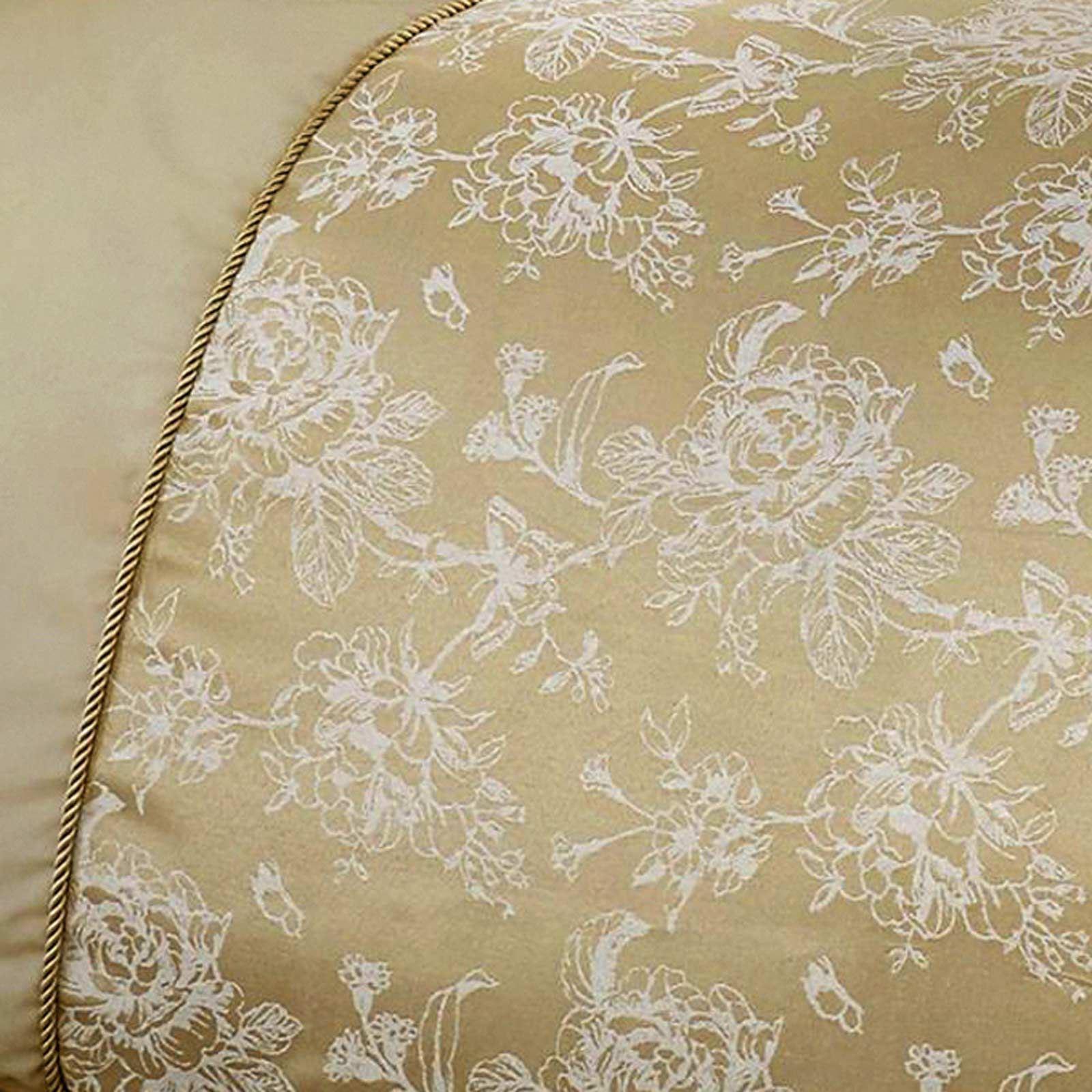 Oro-fundas-nordicas-Jasmine-floral-del-damasco-Edredon-Conjuntos-de-Lujo-Coleccion-de-ropa-de-cama miniatura 9