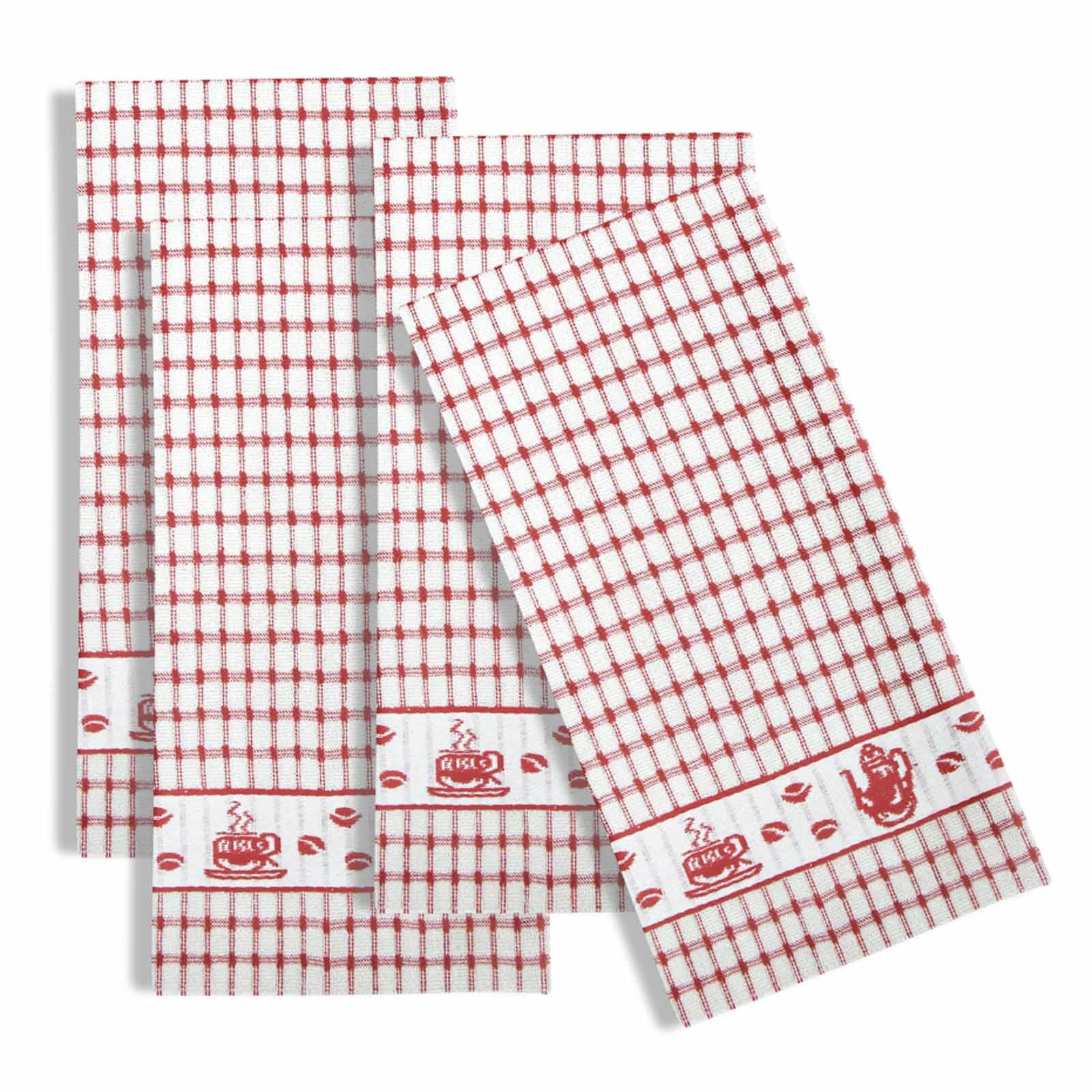 Packs-of-2-4-6-12-Tea-Towels-100-Cotton-Terry-Kitchen-Dish-Drying-Towel-Sets thumbnail 42