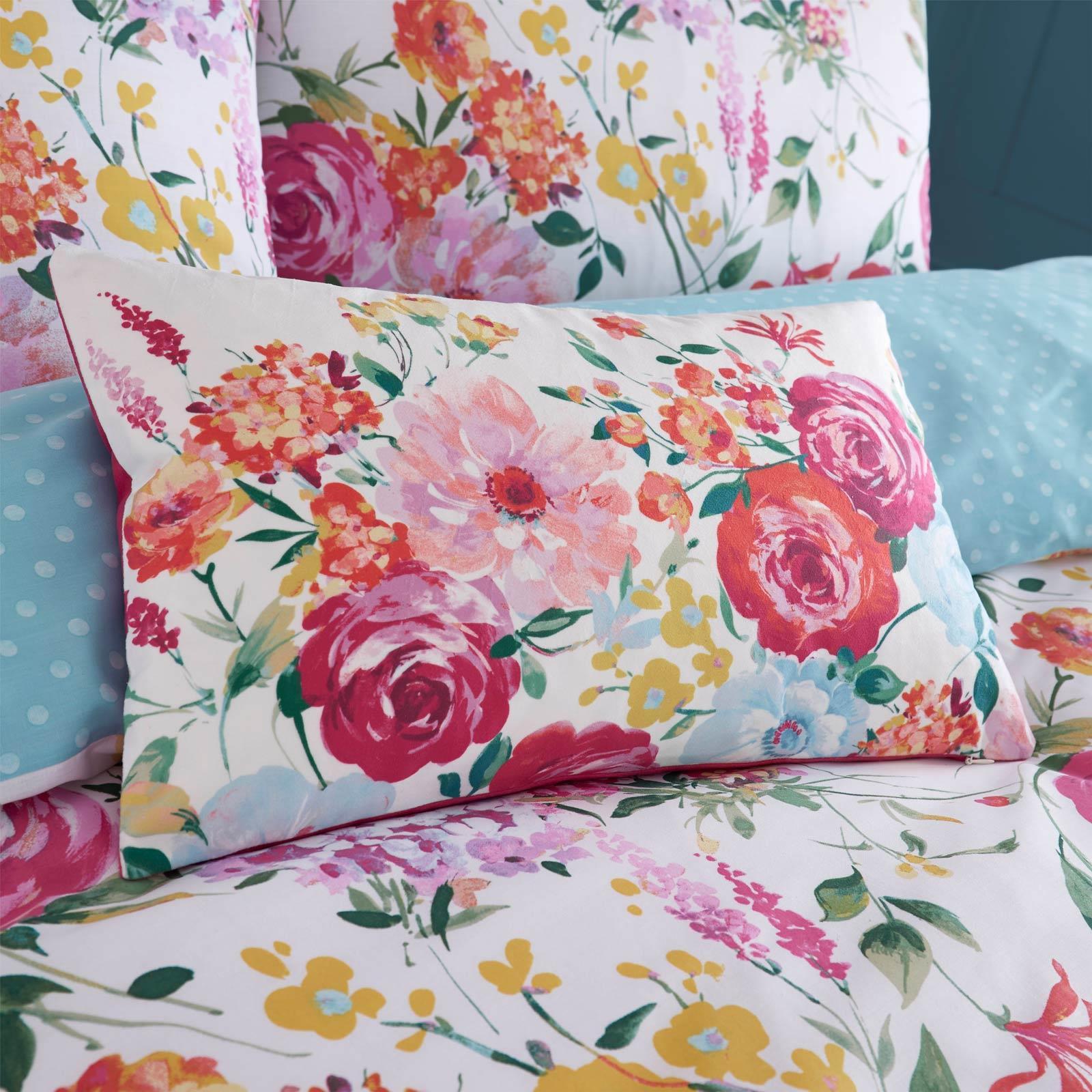 Catherine-Lansfield-Salisbury-Pink-cubierta-del-edredon-edredon-cubre-floral-de-conjuntos-de-cama miniatura 18
