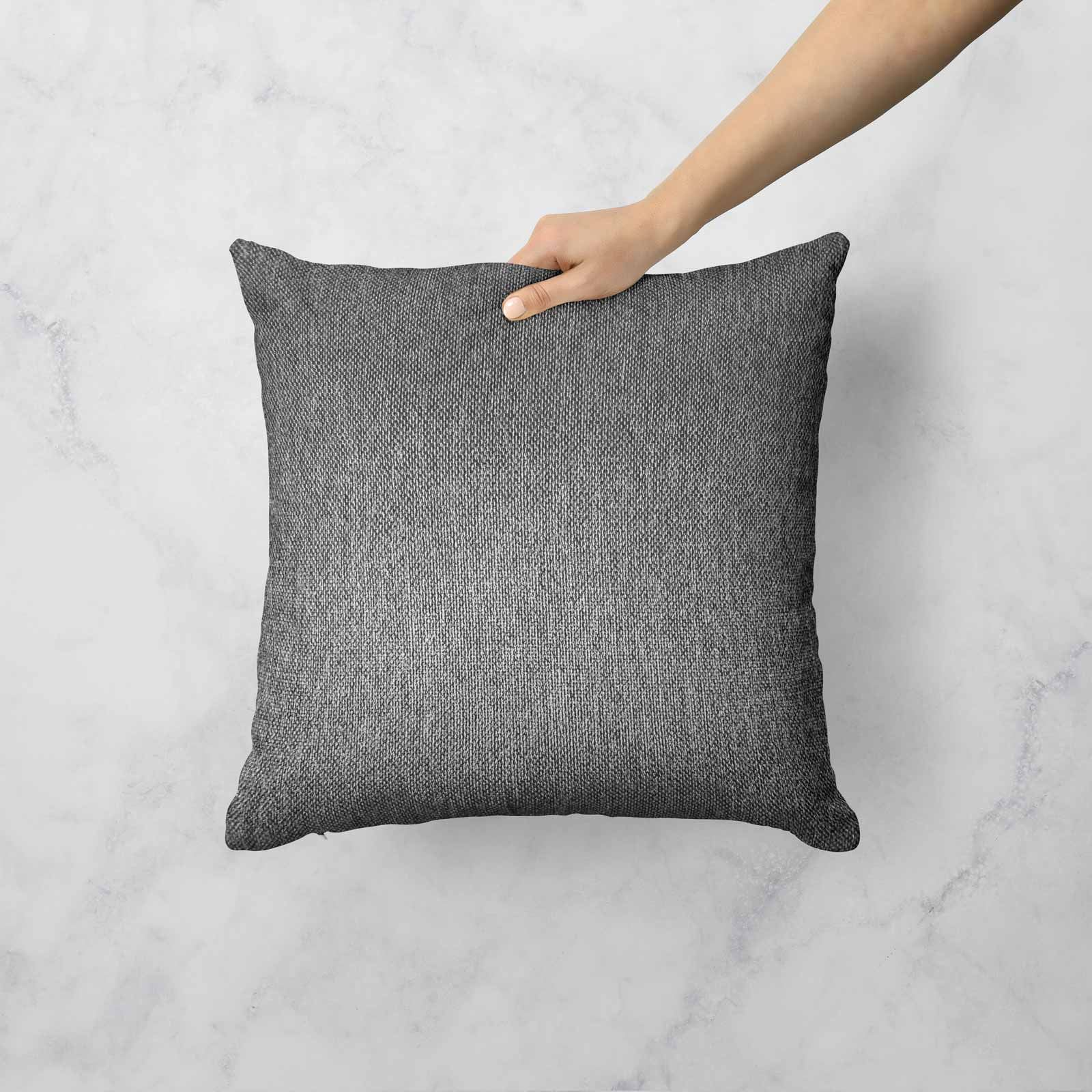 Grey-Silver-Charcoal-Black-Cushion-Covers-18-034-x-18-034-45cm-x-45cm-Luxury-Cover