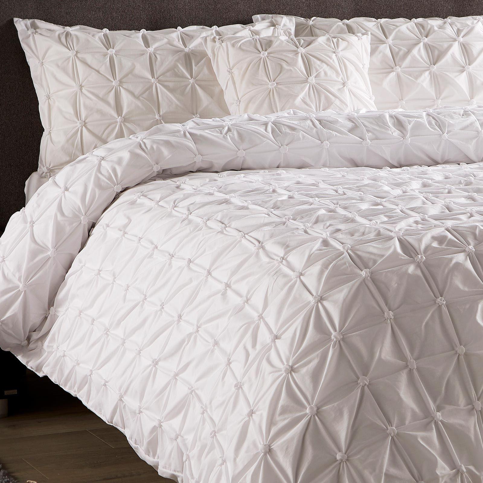 Pleated-Duvet-Covers-Seville-Pintuck-Luxury-Cotton-Rich-Quilt-Bedding-Sets thumbnail 12