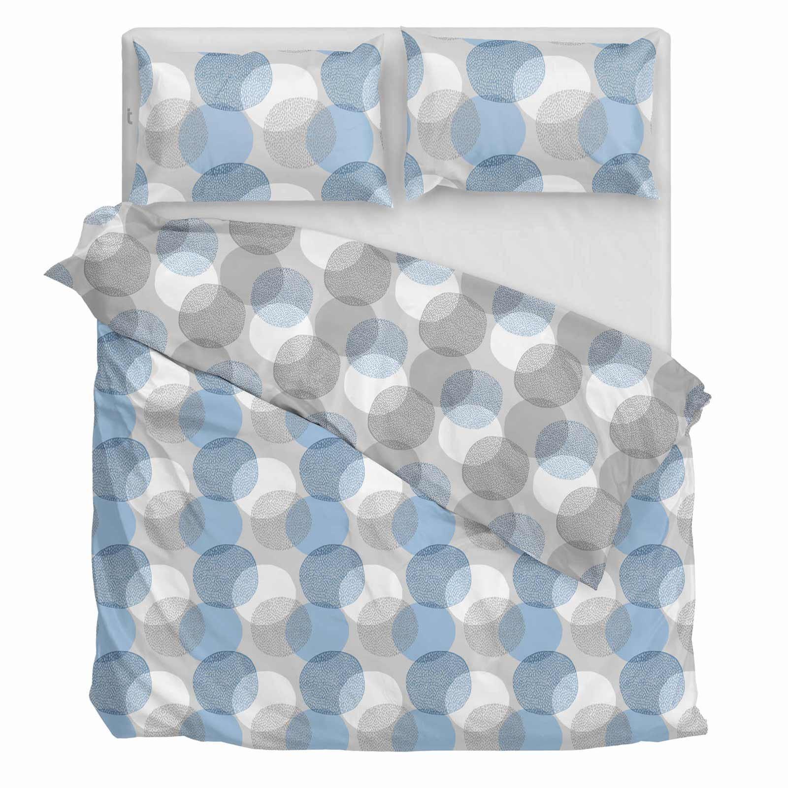 Funda-nordica-azul-azul-marino-verde-azulado-edredon-algodon-estampado-juego-conjuntos-de-cama-cubre miniatura 6
