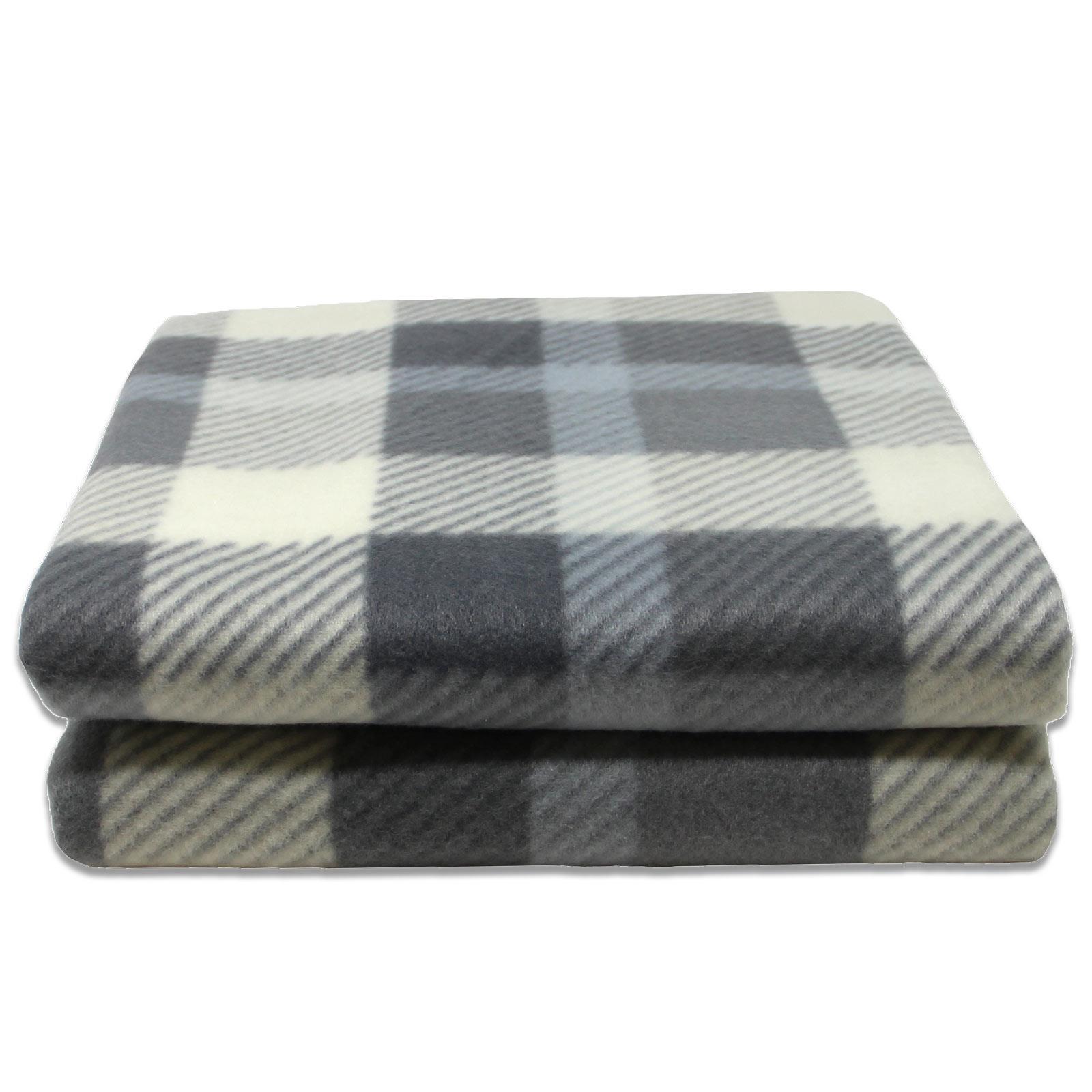 Sofa-de-verificacion-de-tartan-polar-mantas-polar-silla-acogedor-lanza-Manta-127cm-X-152cm miniatura 9