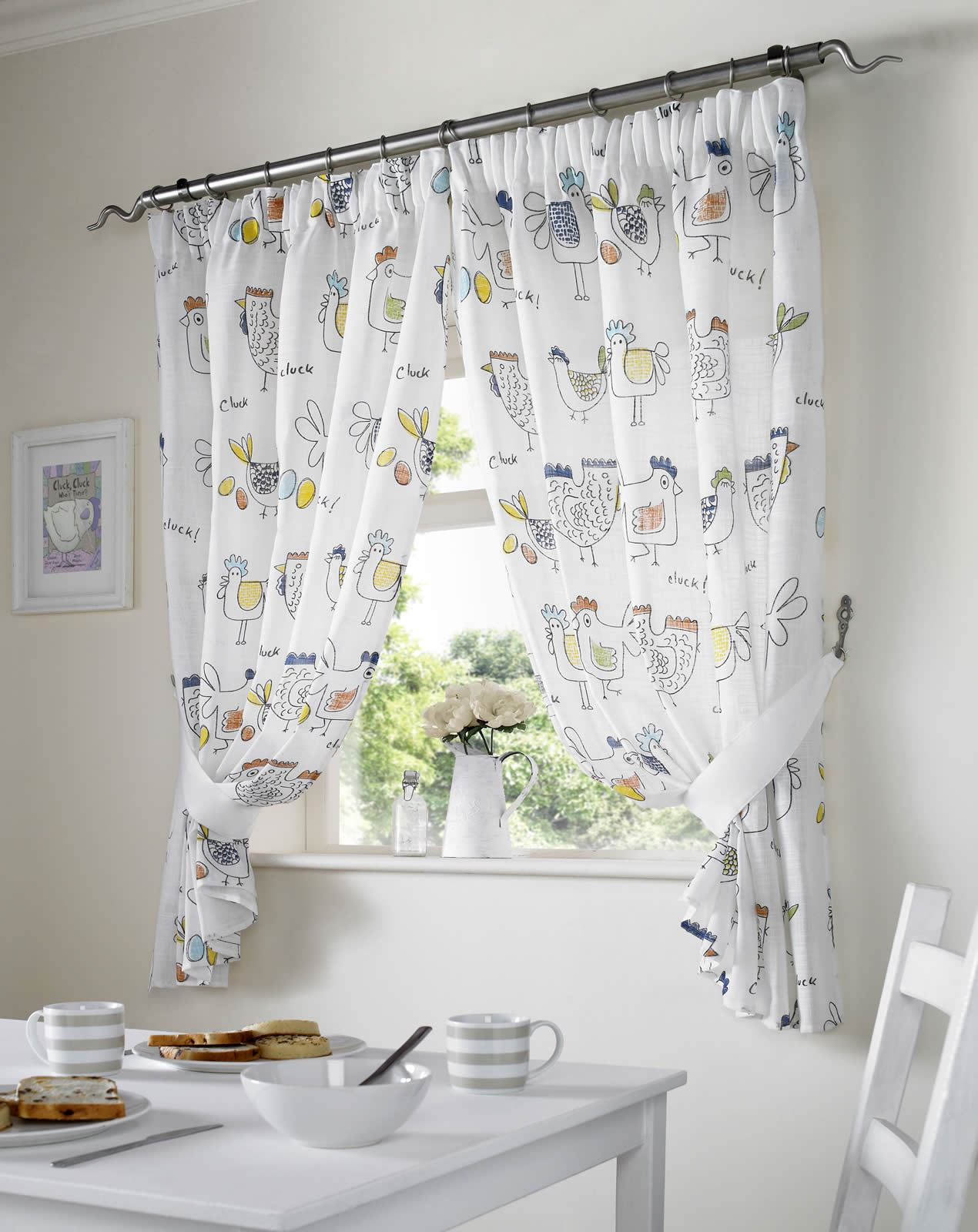 Kitchen Curtains With Chickens Sold In  S