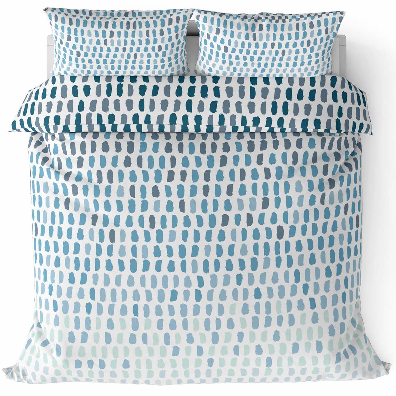 Funda-nordica-azul-azul-marino-verde-azulado-edredon-algodon-estampado-juego-conjuntos-de-cama-cubre miniatura 56