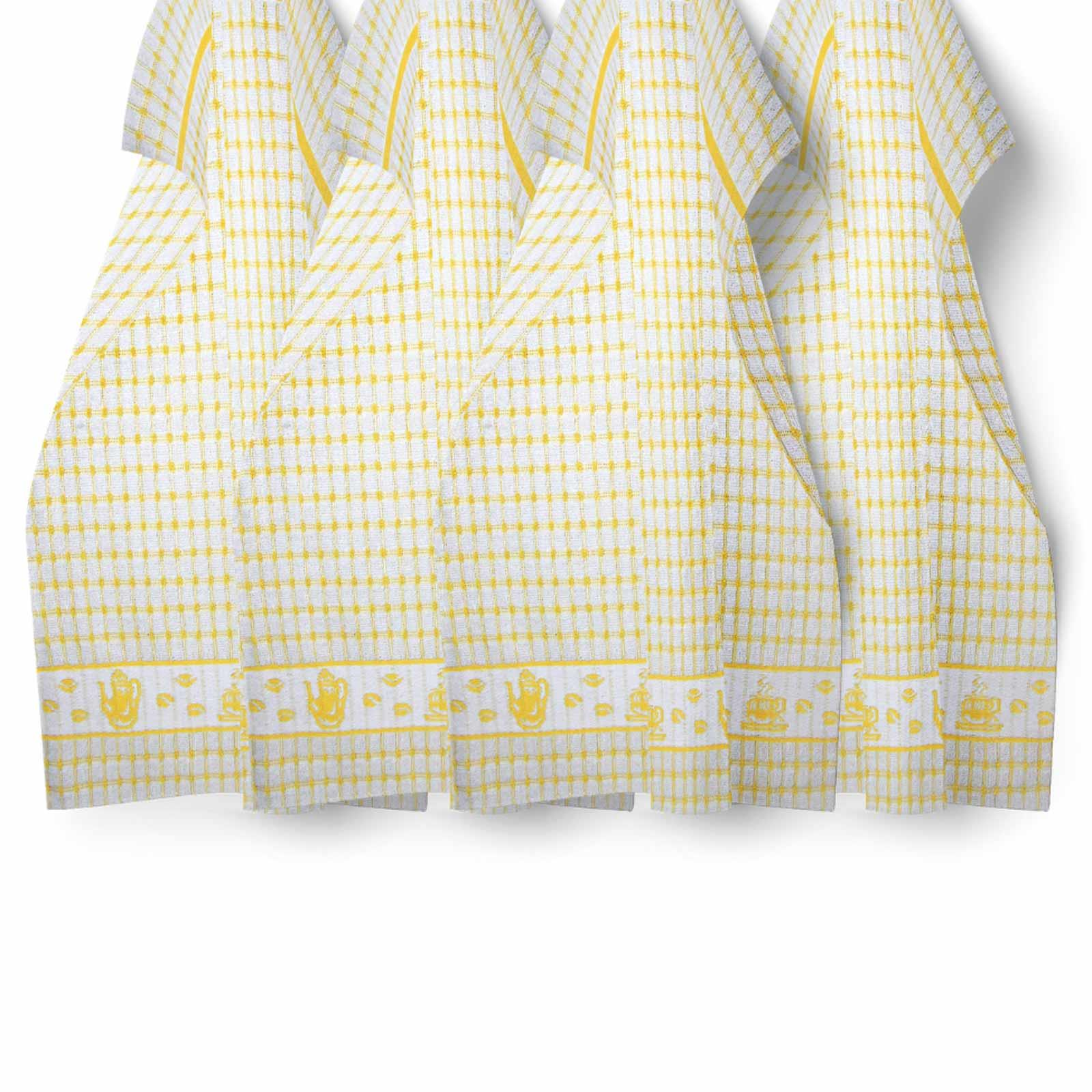 Packs-of-2-4-6-12-Tea-Towels-100-Cotton-Terry-Kitchen-Dish-Drying-Towel-Sets thumbnail 53