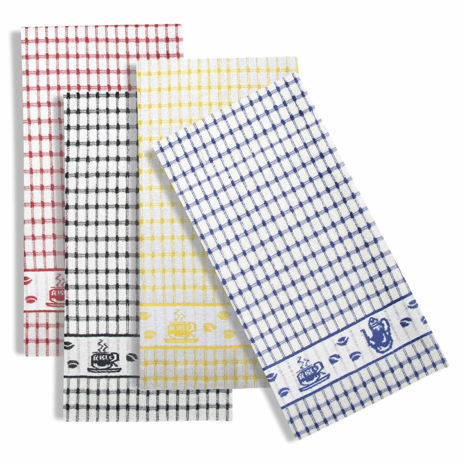 Packs-of-2-4-6-12-Tea-Towels-100-Cotton-Terry-Kitchen-Dish-Drying-Towel-Sets thumbnail 78