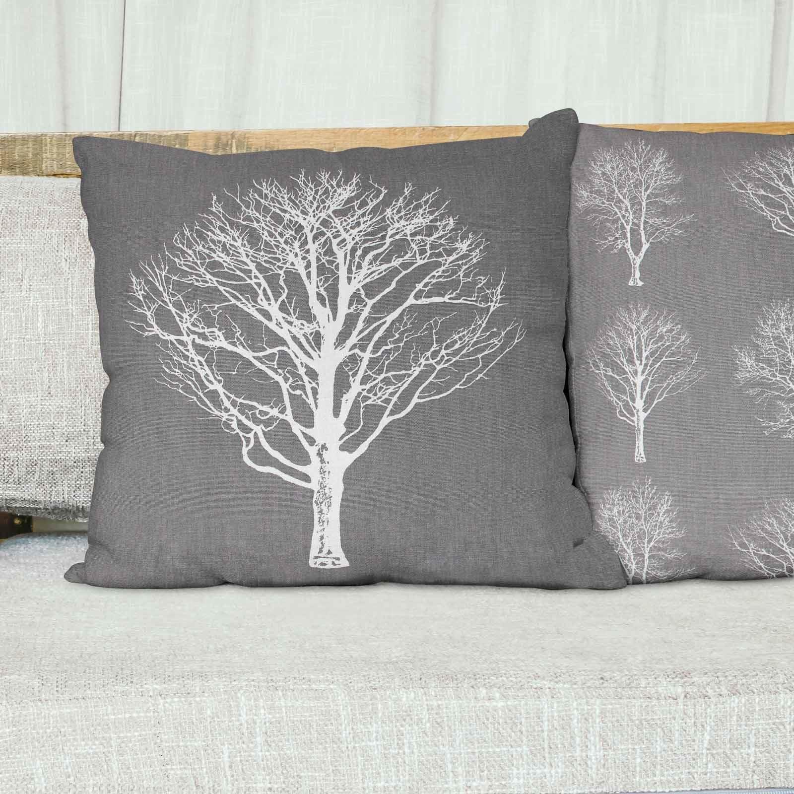 Woodland-Trees-Cushion-Cover-Modern-Reversible-Tree-Print-Covers-17-034-x-17-034 thumbnail 8