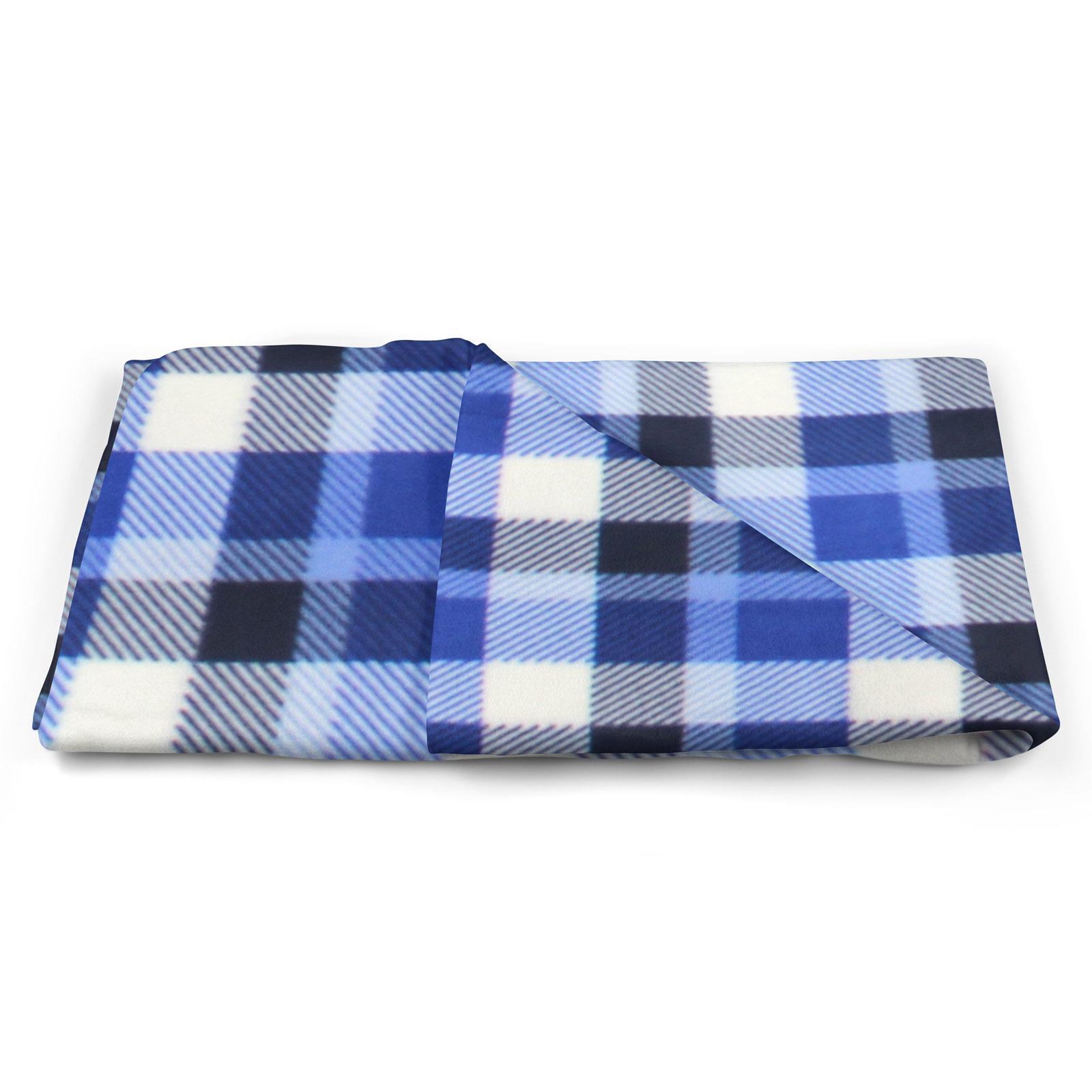Sofa-de-verificacion-de-tartan-polar-mantas-polar-silla-acogedor-lanza-Manta-127cm-X-152cm miniatura 17