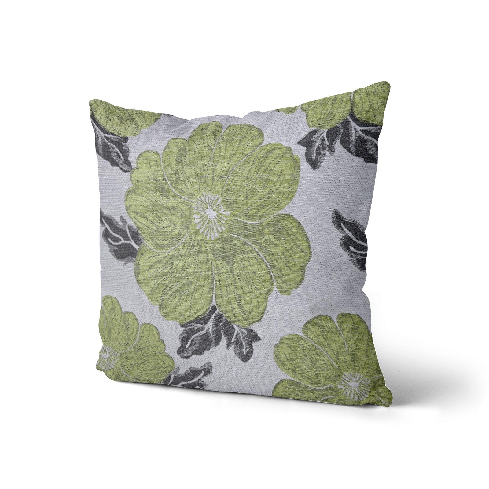 Chenille-Cushion-Cover-Floral-Reversible-Thick-Cushions-Covers-18-034-22-034-9-Colours thumbnail 47