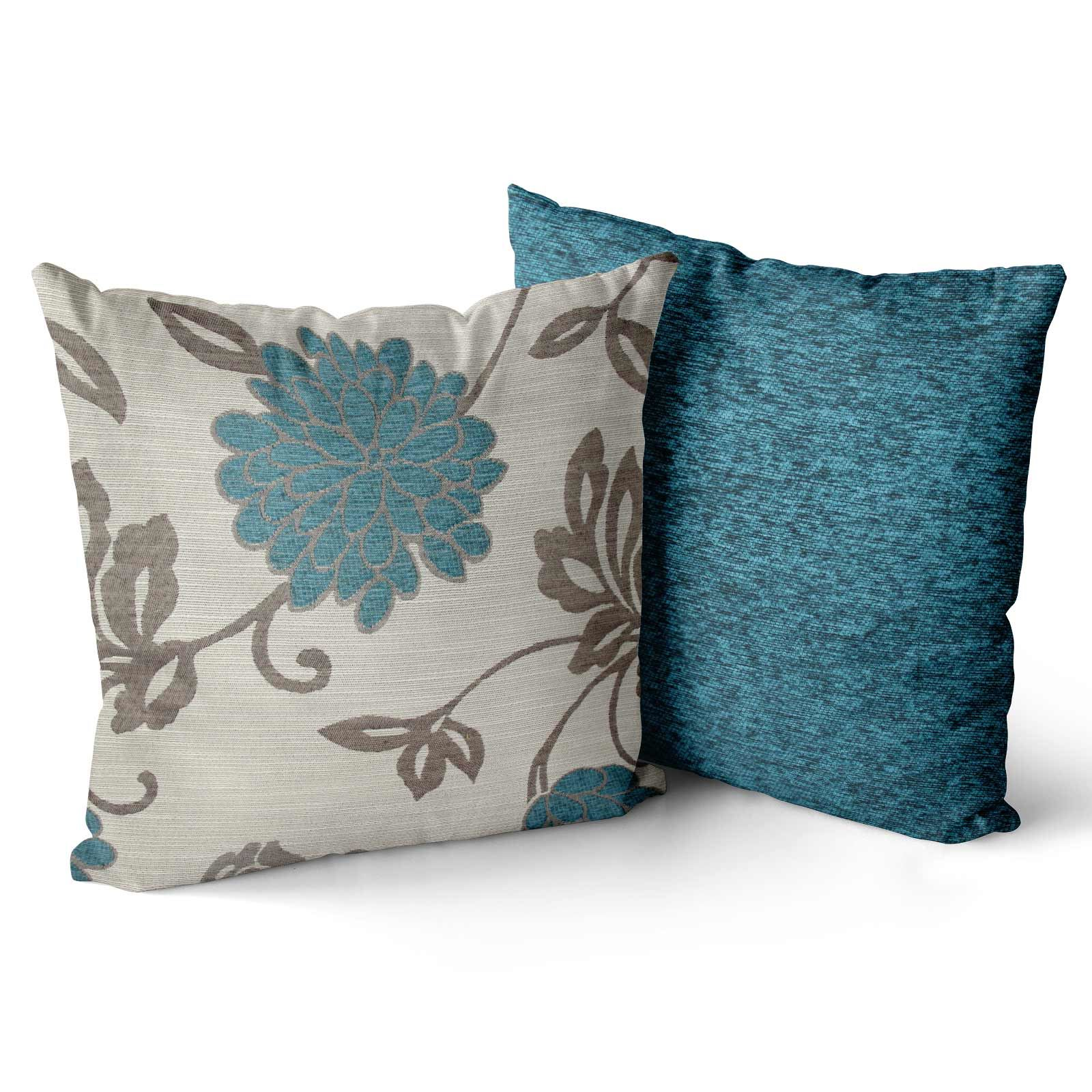 Set-of-4-Orla-Cushion-Covers-Reversible-Floral-Cushion-Cover-Collections thumbnail 10
