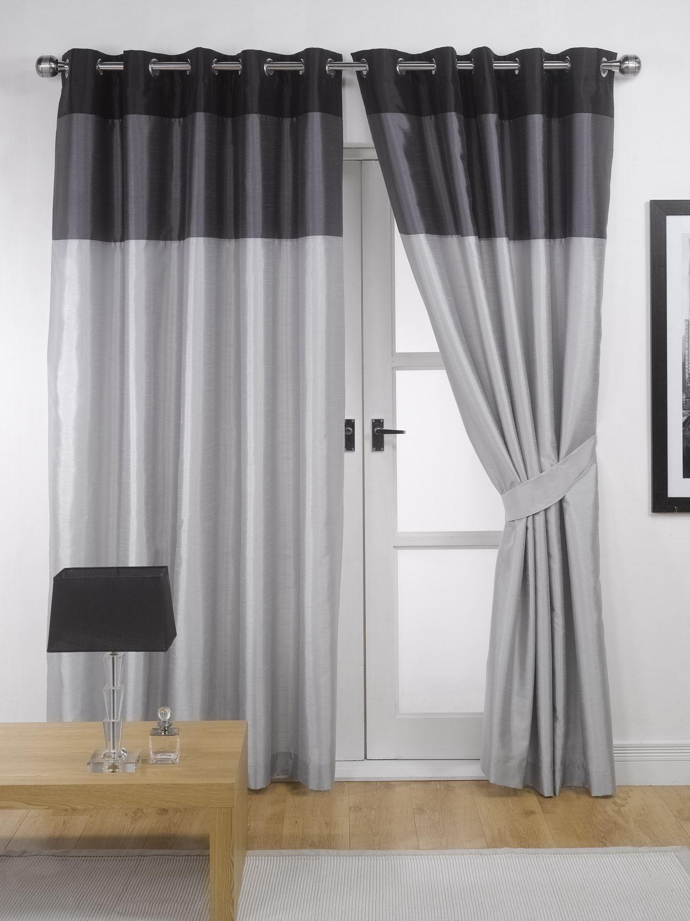 Vienna Lined Eyelet Curtains Ready Made Ringtop Curtain