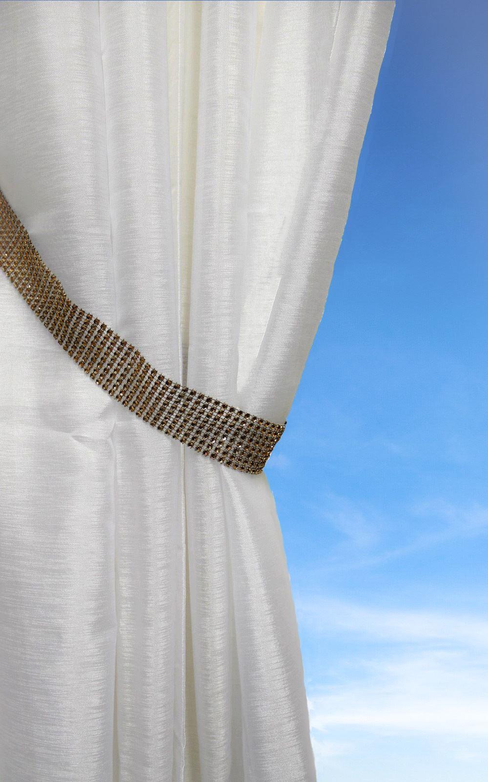 Rhiannon Bling Chain Curtain Tie Backs Sparkle Hold Back