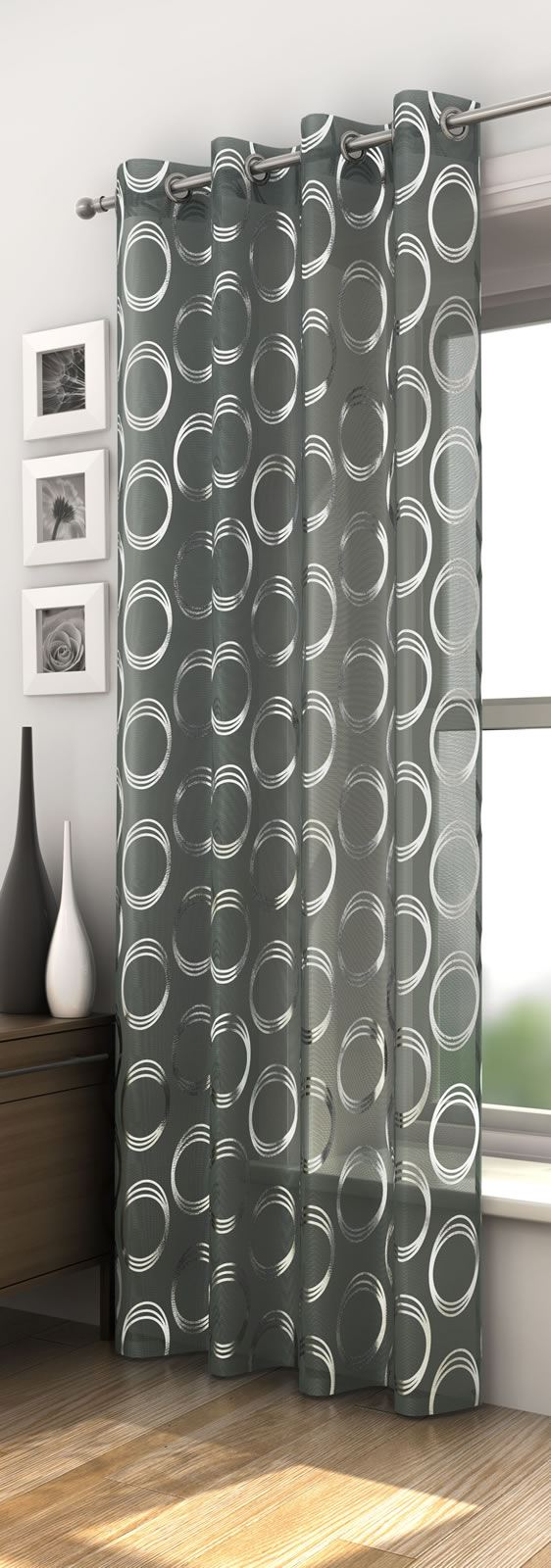 Black And White Circle Pattern Curtains   Gopelling.net