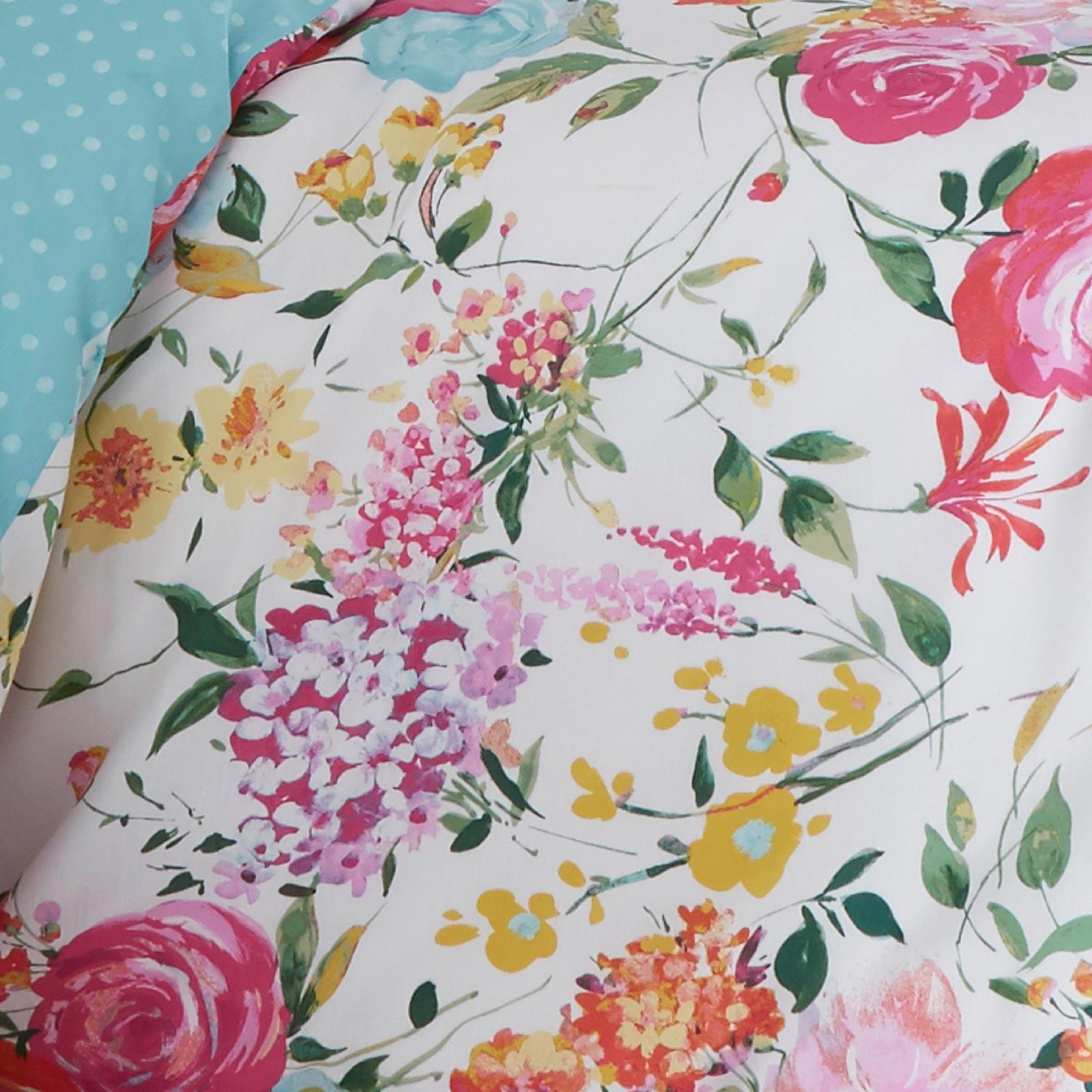 Catherine-Lansfield-Salisbury-Pink-cubierta-del-edredon-edredon-cubre-floral-de-conjuntos-de-cama miniatura 3