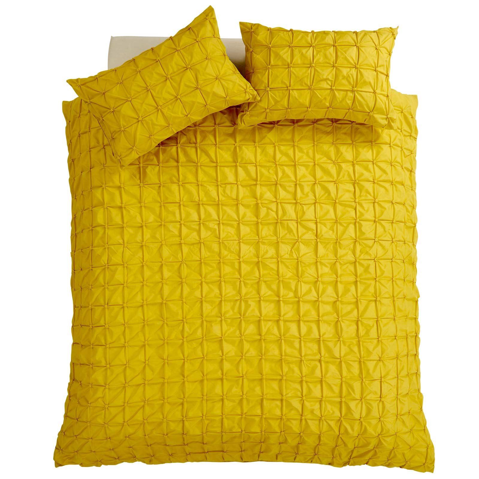 Pleated-Duvet-Covers-Seville-Pintuck-Luxury-Cotton-Rich-Quilt-Bedding-Sets thumbnail 9