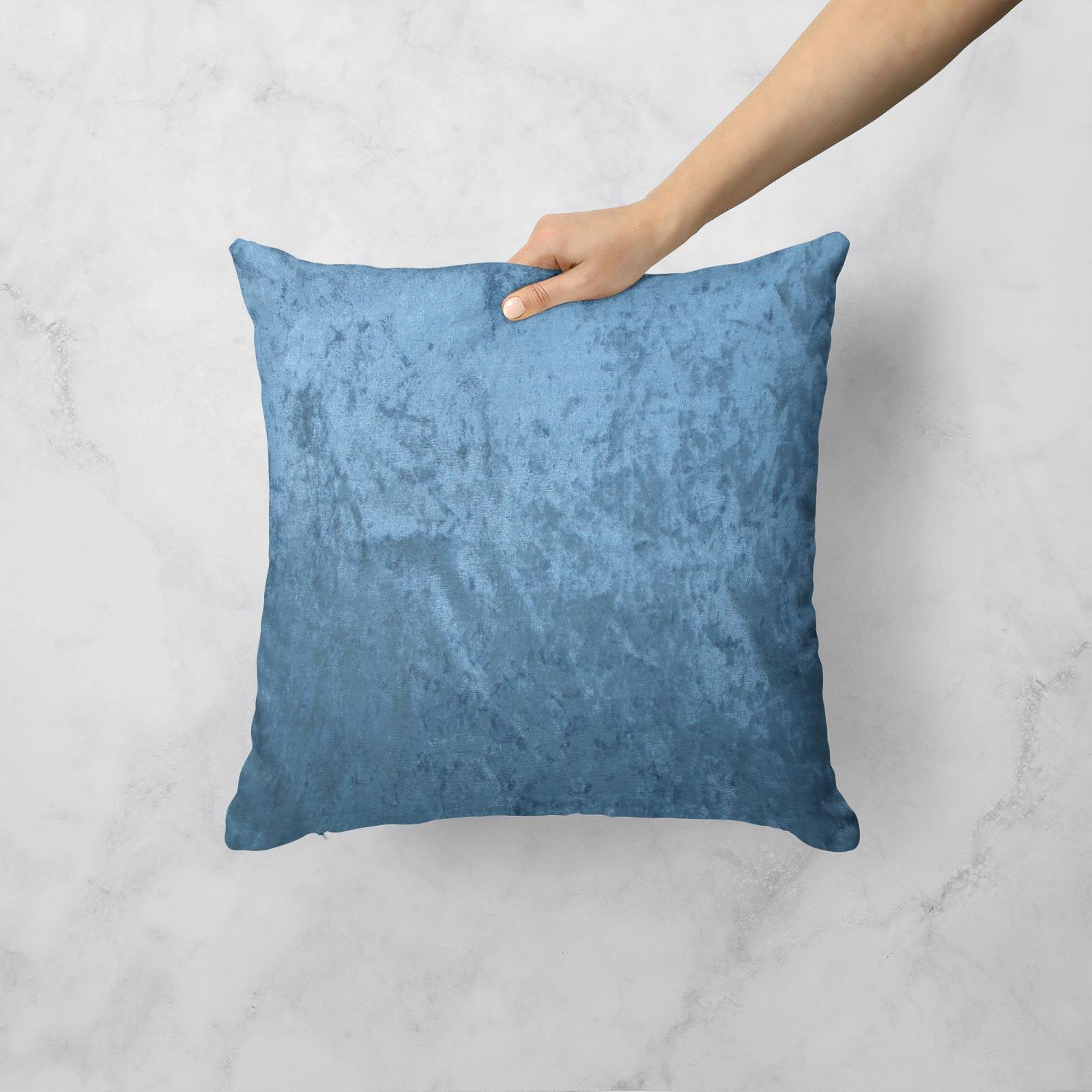 Cuscino-di-velluto-schiacciato-copre-GLAM-Tinta-Unita-Copricuscino-18-034-x-18-034-45cm-x-45cm miniatura 18