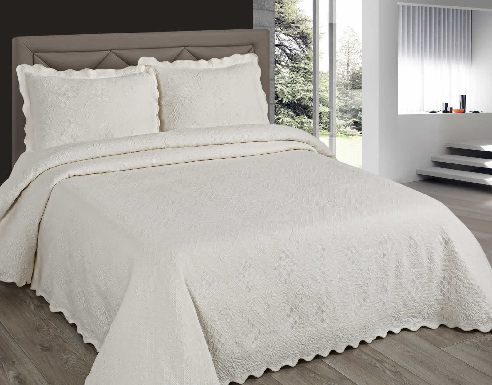 Matrimonio Bed Cover : Luxury embroidered bedspreads bed cover throws all sizes cream