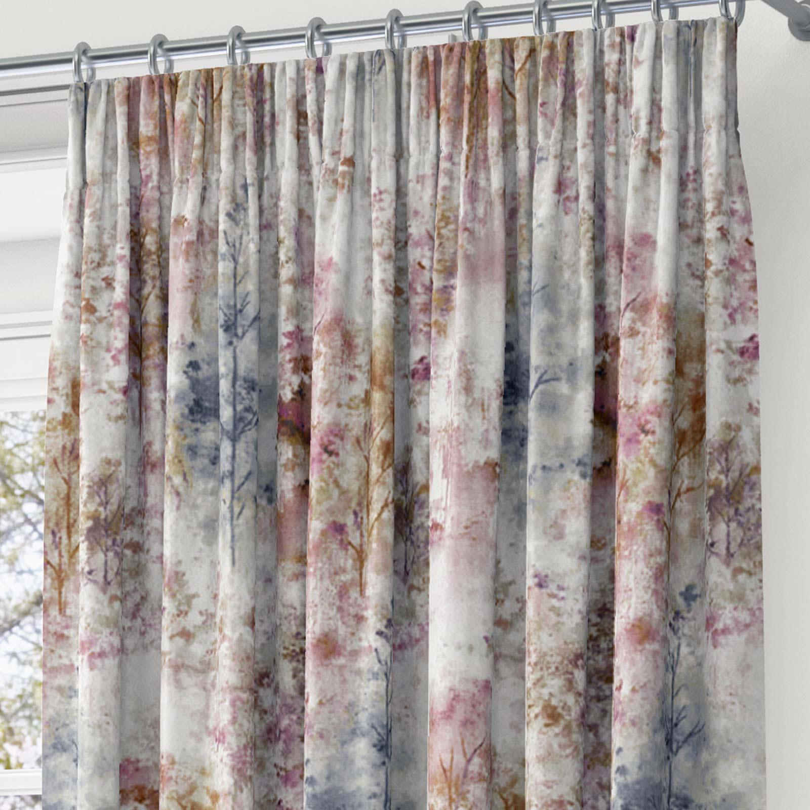 Woodland-Cinta-superior-Cortinas-de-arboles-de-impresion-Ready-Made-3-034-pares-de-cortina-plisado miniatura 4