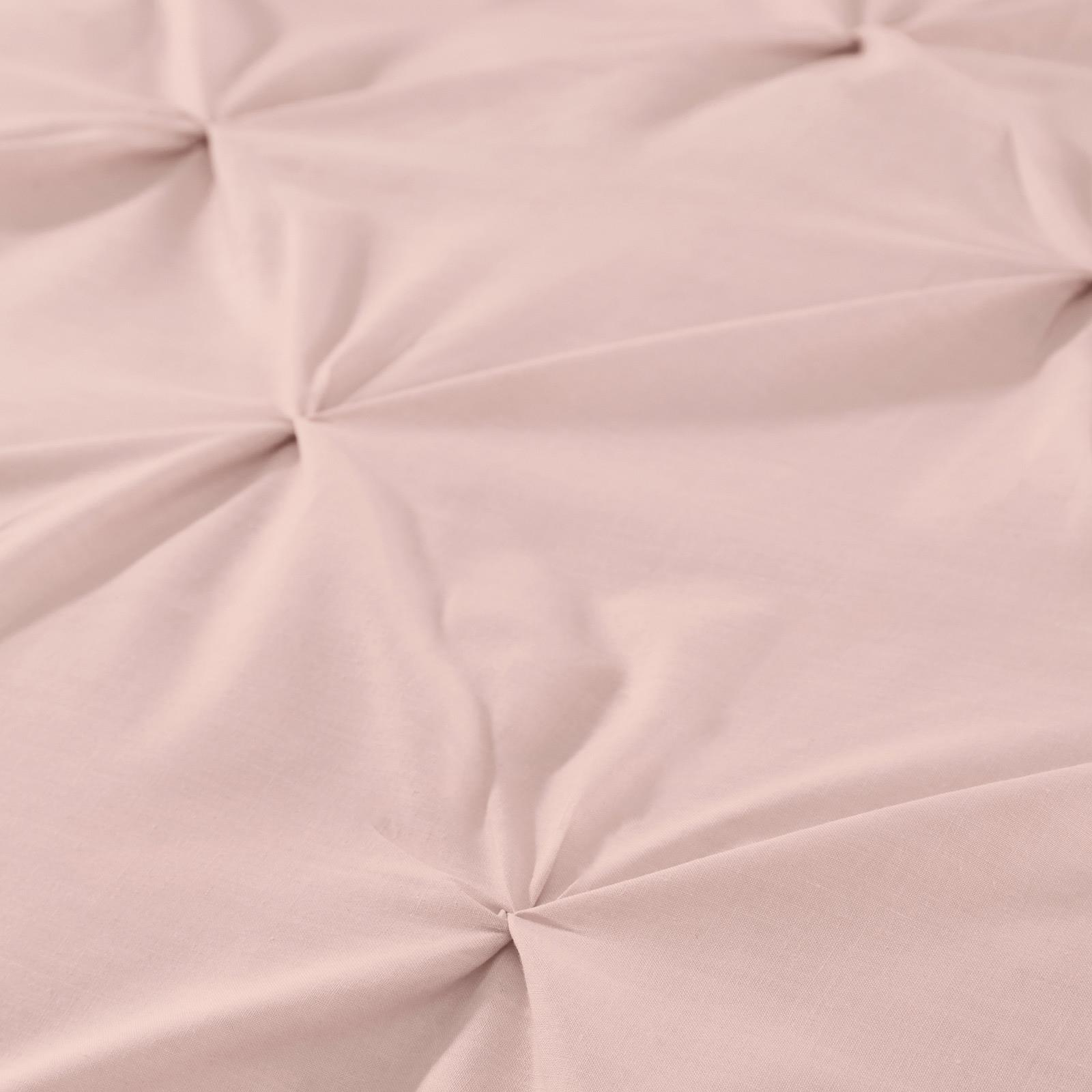 Blush-Duvet-Covers-Ruched-Pin-Tuck-Stitched-Plain-Pink-Quilt-Cover-Bedding-Sets thumbnail 5