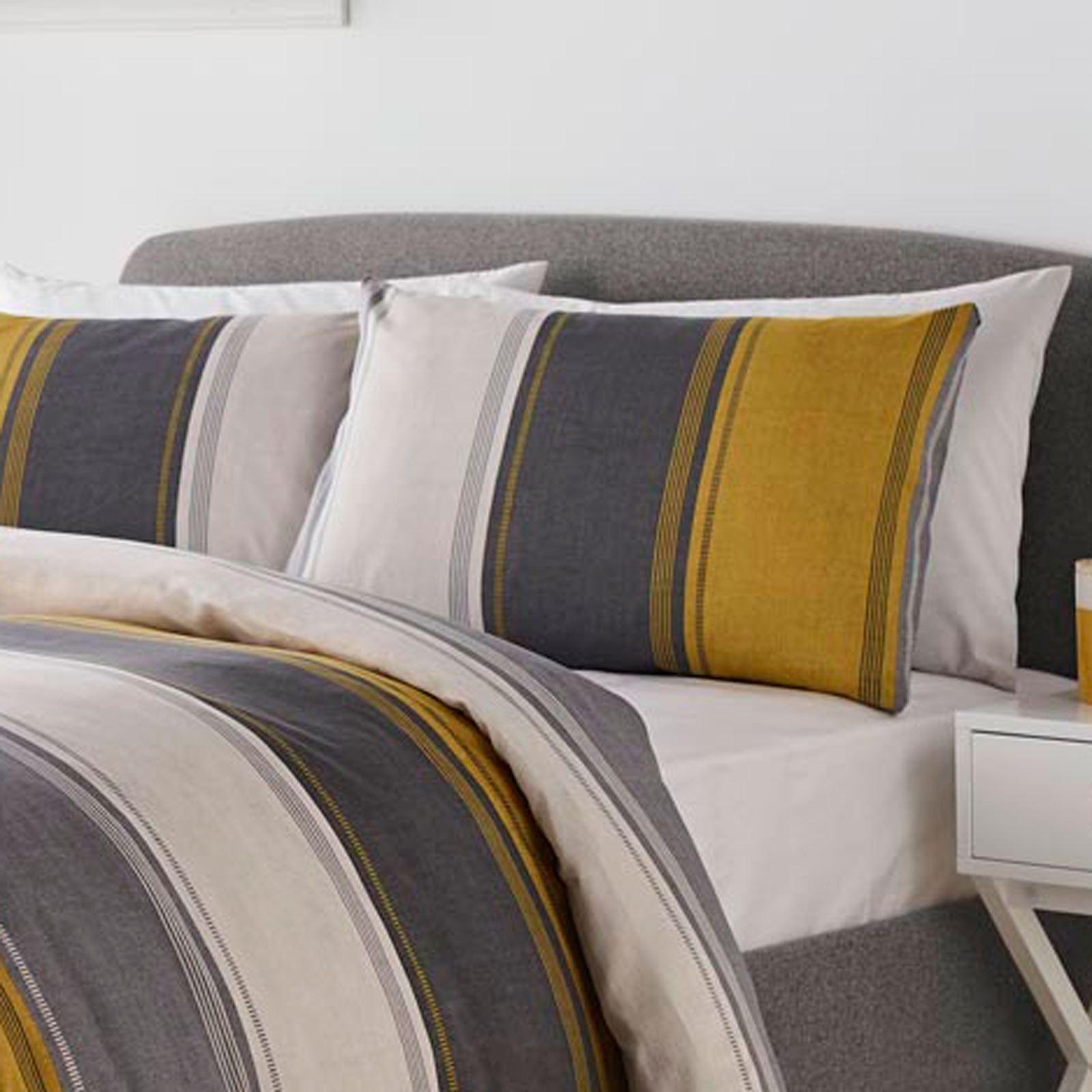 Mostaza-amarillo-ocre-Funda-de-edredon-impreso-Edredon-juego-ropa-de-cama-cubre-conjuntos miniatura 10