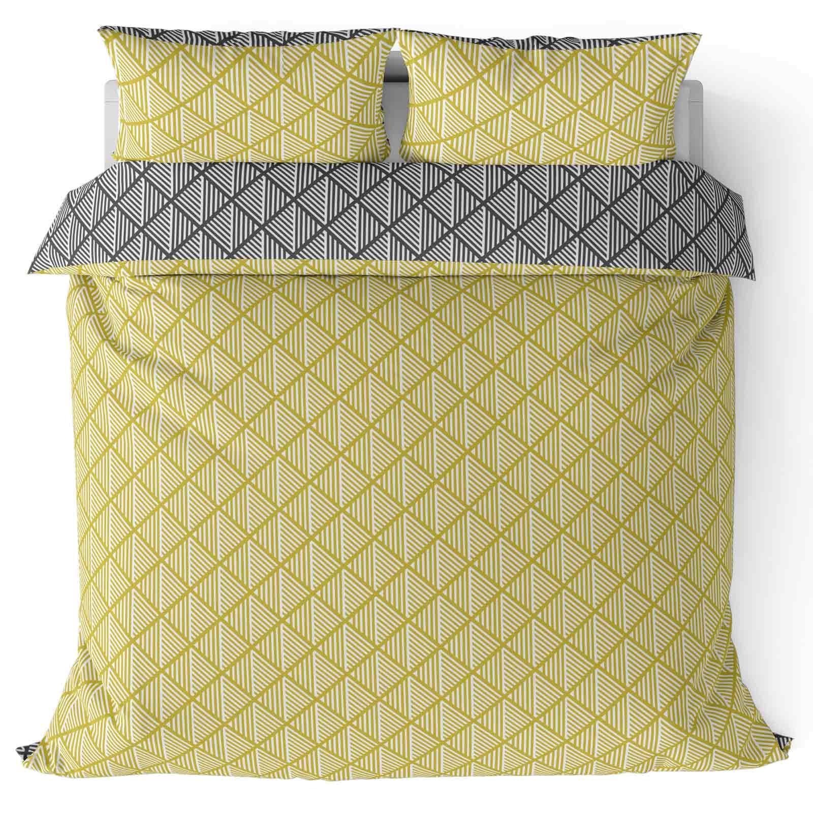 Mostaza-amarillo-ocre-Funda-de-edredon-impreso-Edredon-juego-ropa-de-cama-cubre-conjuntos miniatura 28