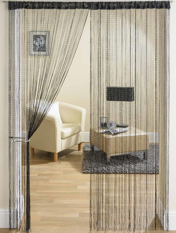 String Curtain Fringe Panel Decoration Room Divider 20: Glam String Door Curtain Panel Glitter Bling Voile Panel