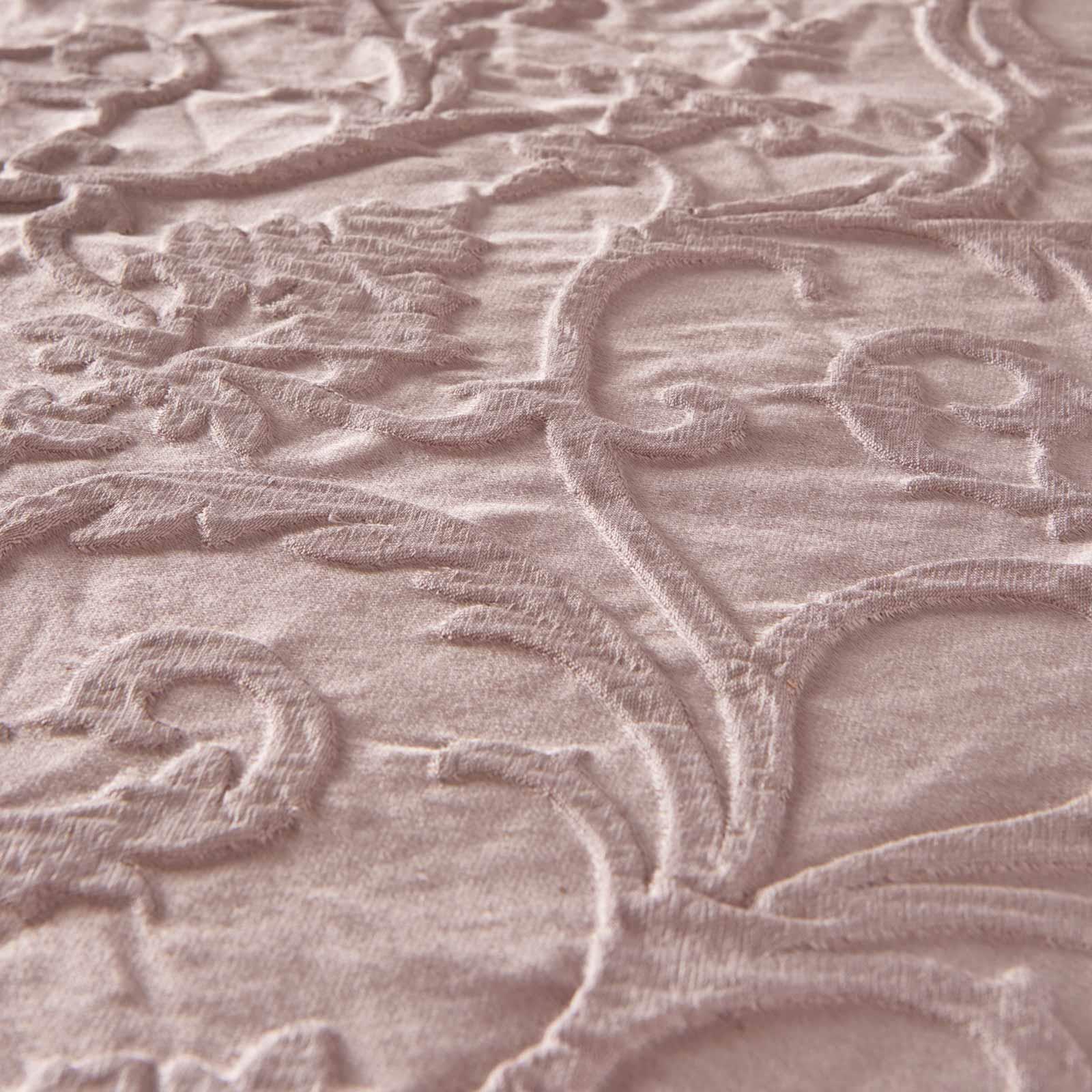 Blush-fundas-nordicas-Rosa-con-Textura-Jacquard-Edredon-Cubierta-de-Lujo-Coleccion-de-ropa-de-cama miniatura 5