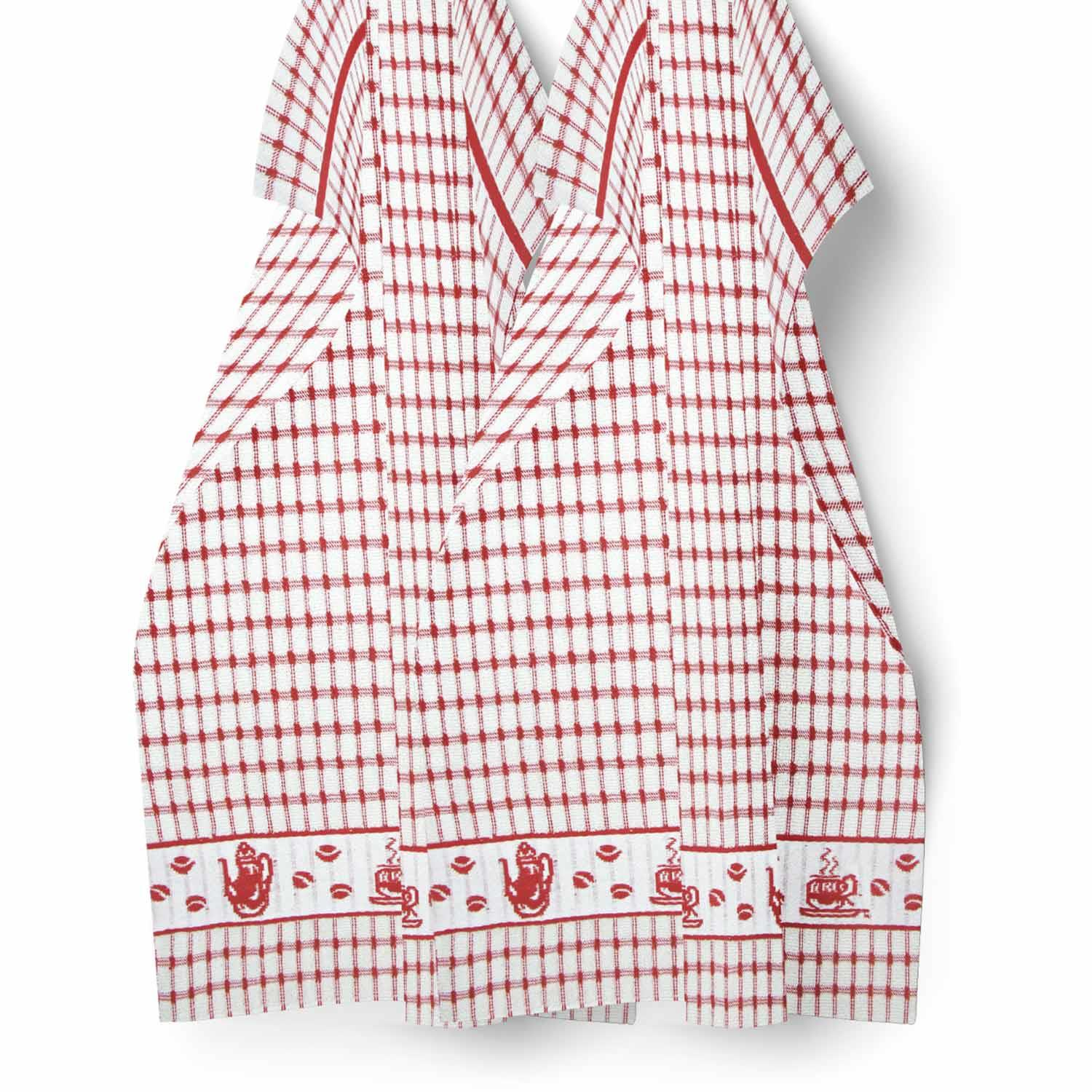 Packs-of-2-4-6-12-Tea-Towels-100-Cotton-Terry-Kitchen-Dish-Drying-Towel-Sets thumbnail 5
