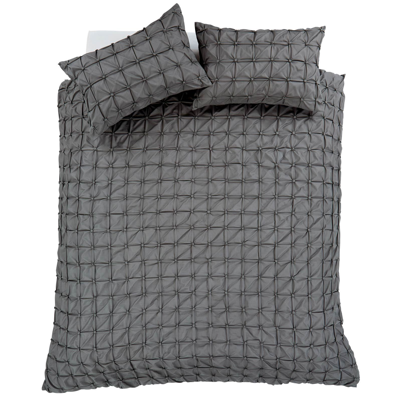 Pleated-Duvet-Covers-Seville-Pintuck-Luxury-Cotton-Rich-Quilt-Bedding-Sets thumbnail 5
