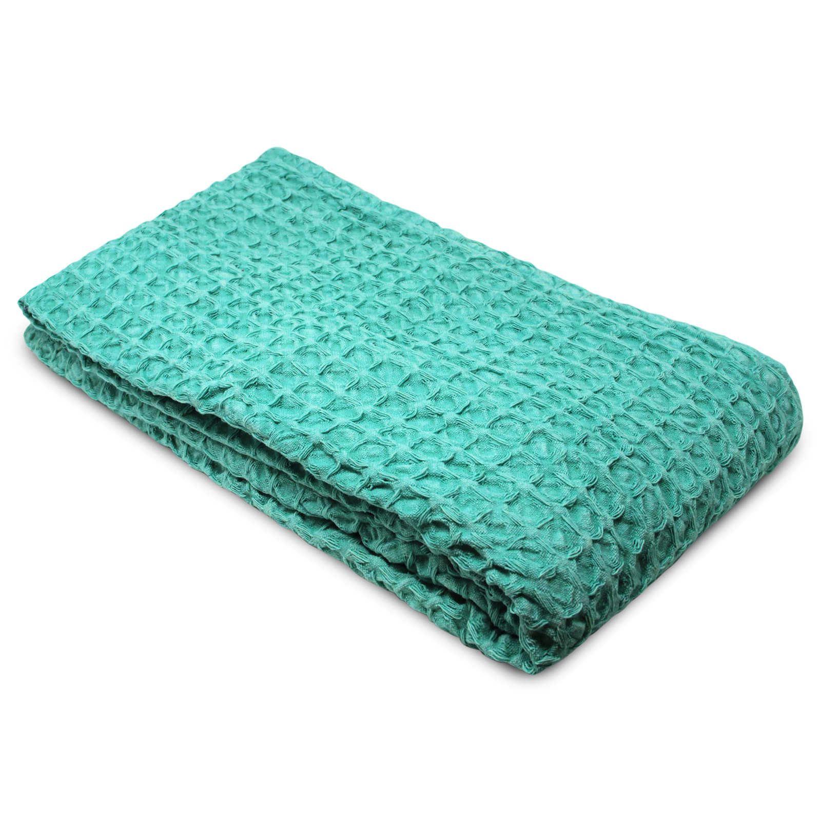Oregon-Stonewash-Waffle-Throw-Modern-Distressed-Sofa-Bed-Blankets-100-Cotton thumbnail 3