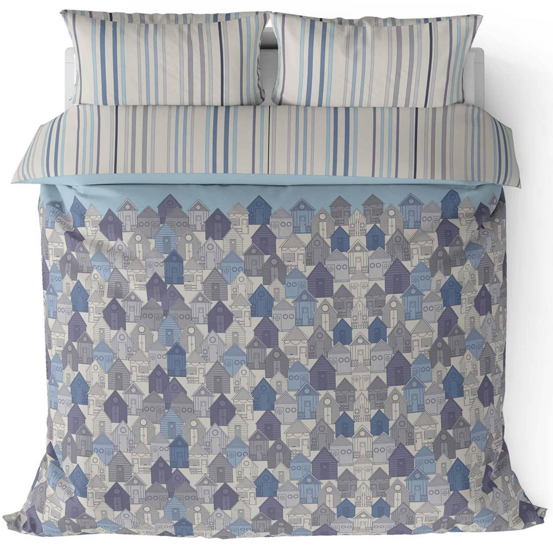 Funda-nordica-azul-azul-marino-verde-azulado-edredon-algodon-estampado-juego-conjuntos-de-cama-cubre miniatura 45