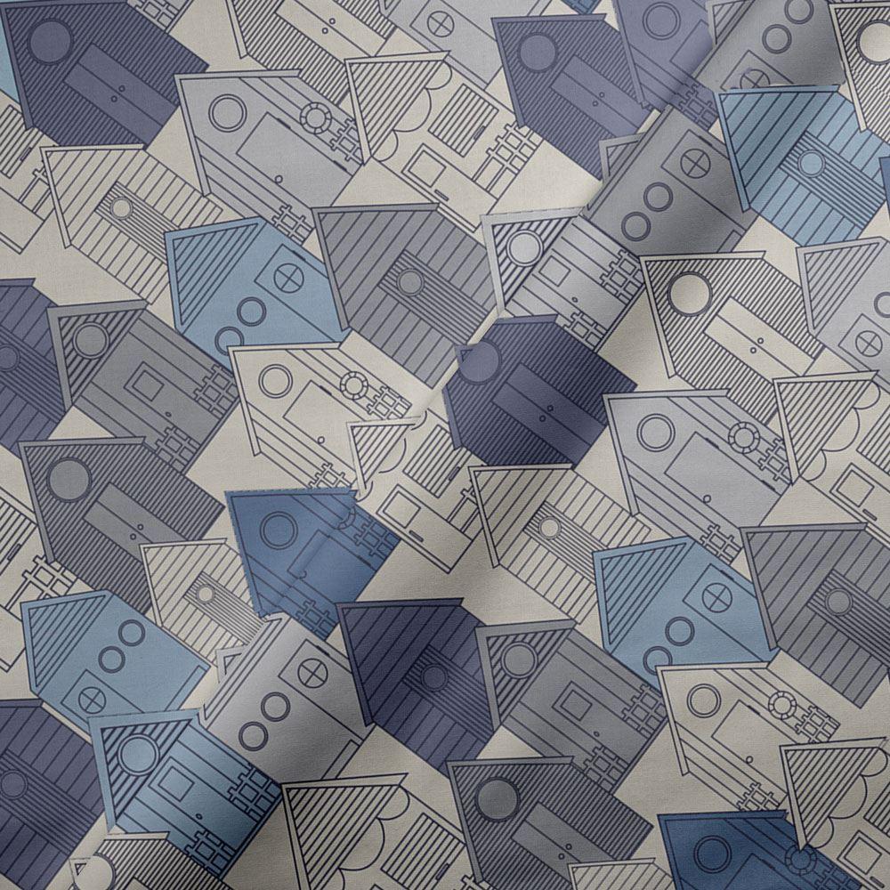 Funda-nordica-azul-azul-marino-verde-azulado-edredon-algodon-estampado-juego-conjuntos-de-cama-cubre miniatura 46